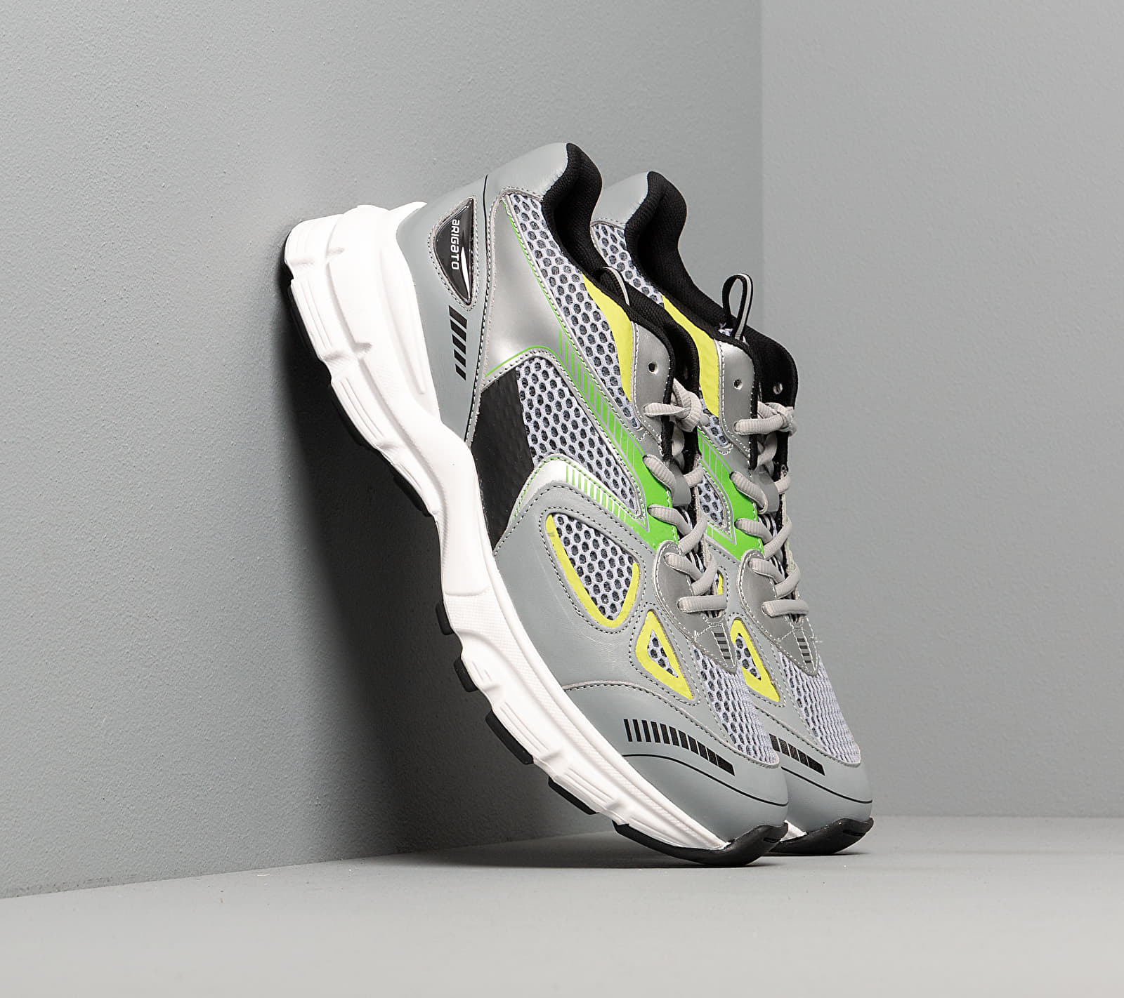 Axel Arigato Marathon Runner Grey/ Neon Green, Gray