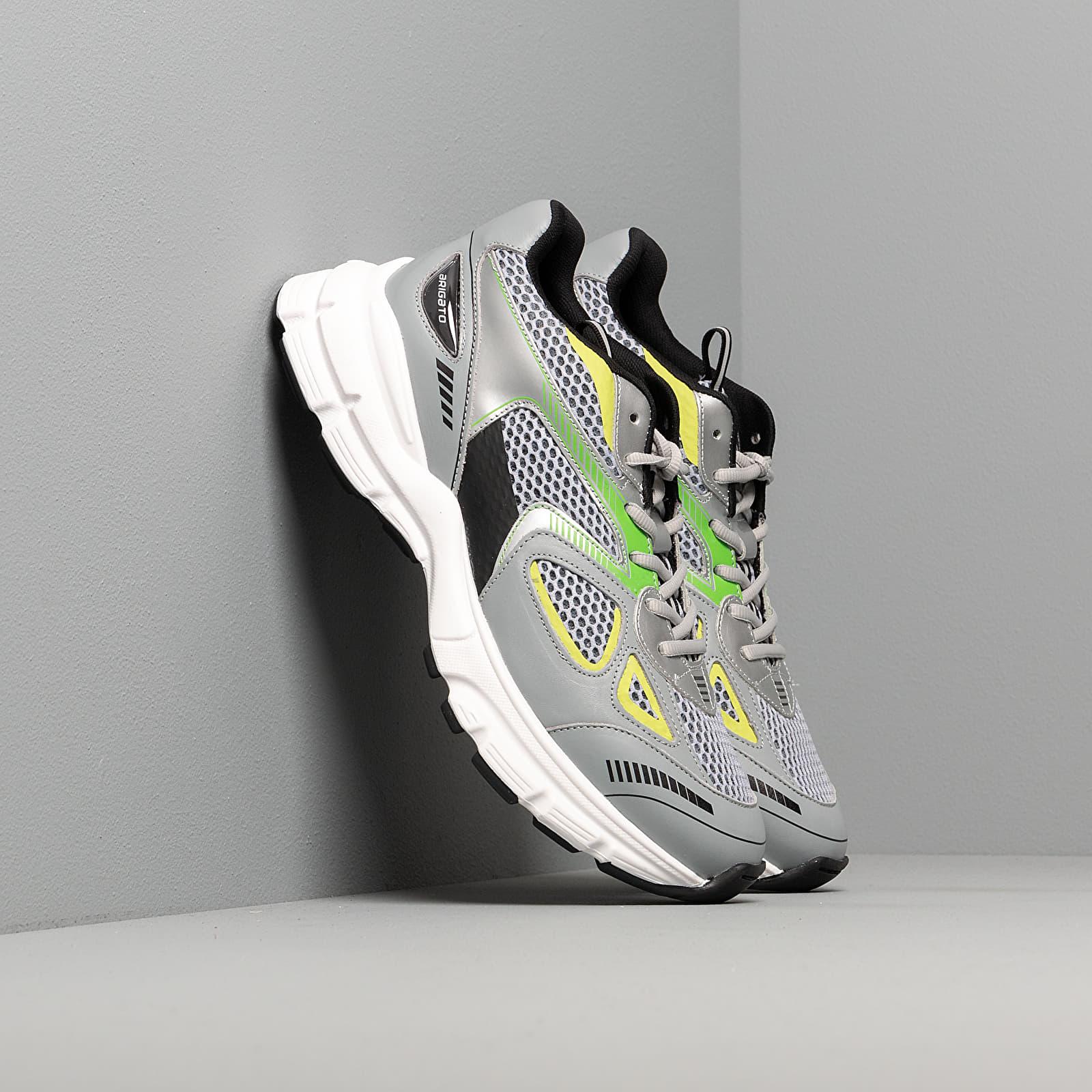 Încălțăminte și sneakerși pentru bărbați Axel Arigato Marathon Runner Grey/ Neon Green