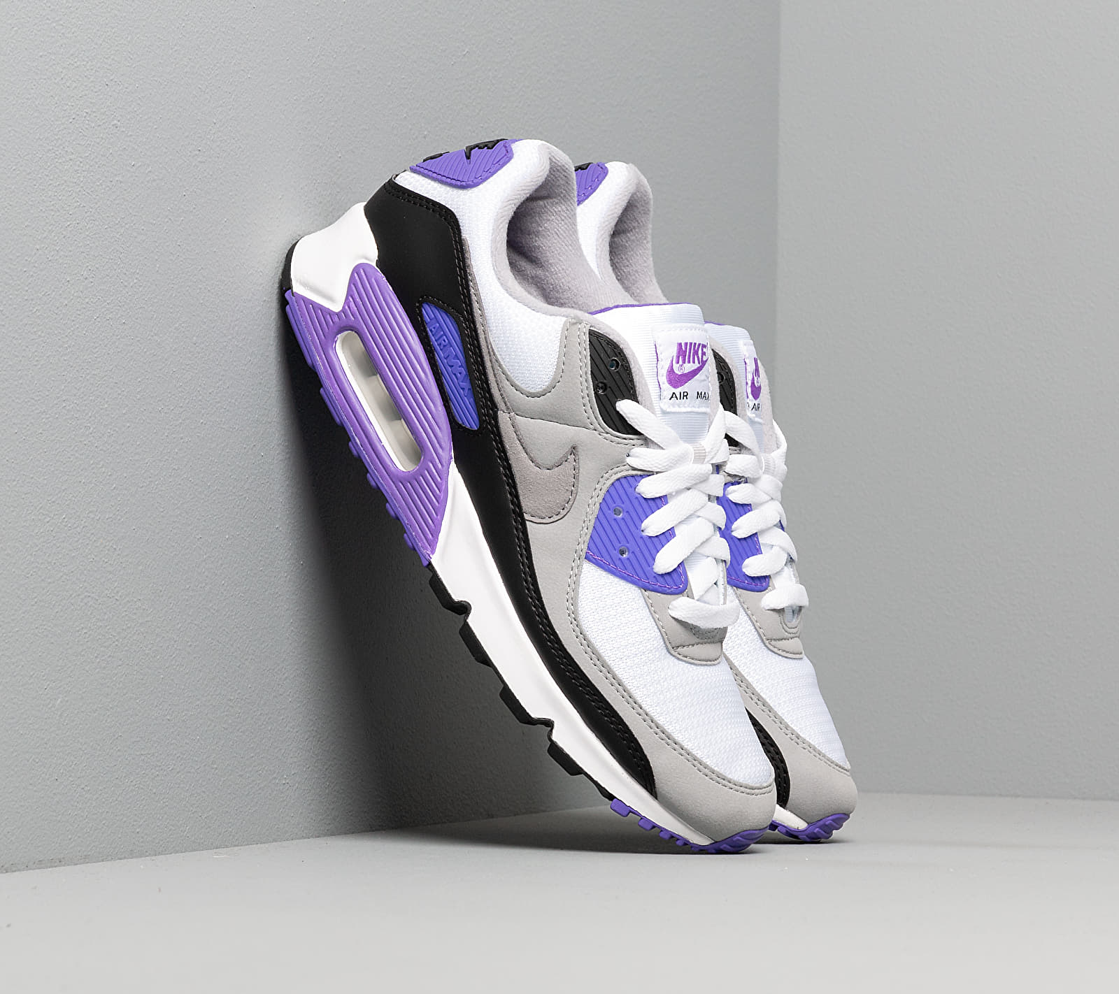 Nike Air Max 90 White/ Particle Grey-Hyper Grape-Black EUR 38.5