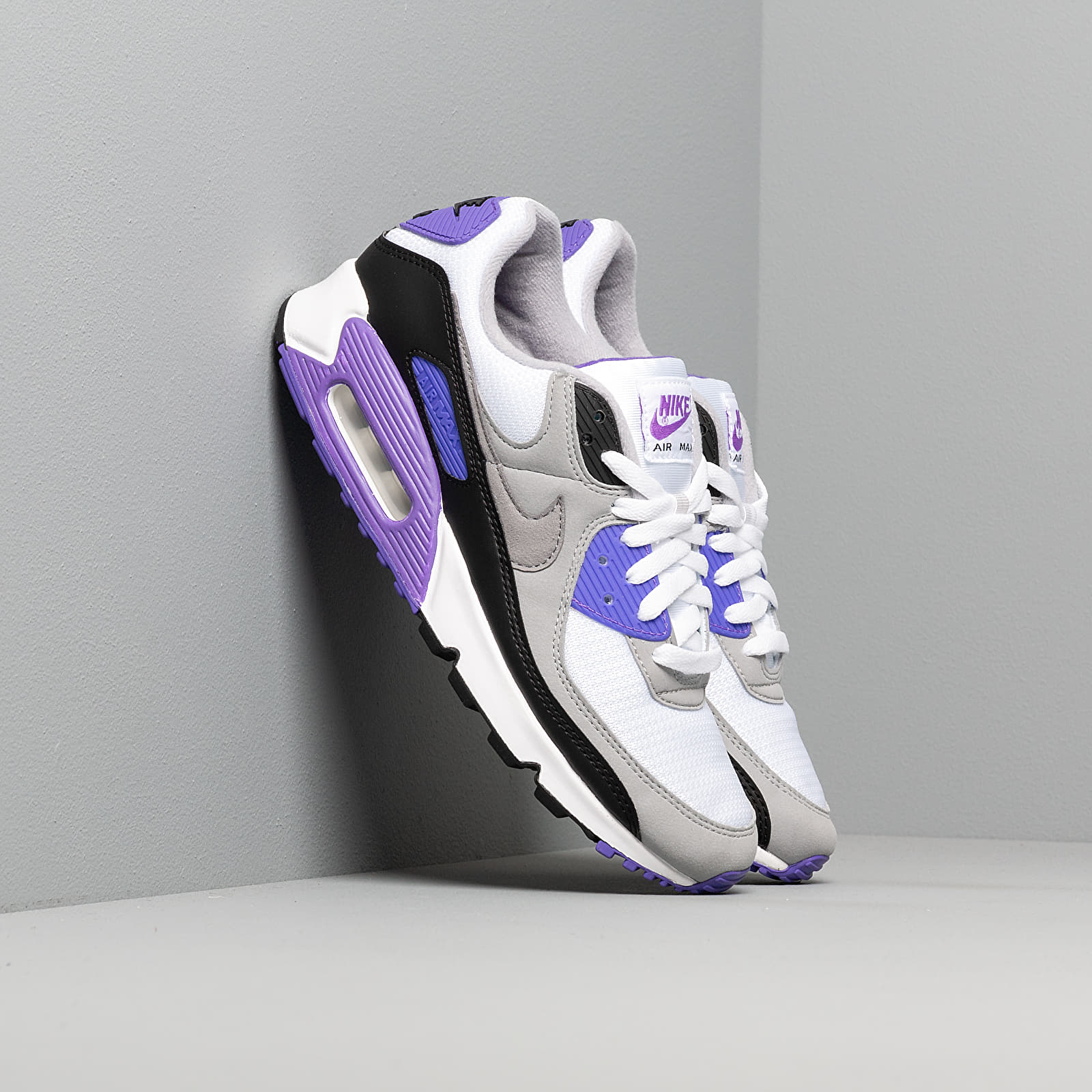 Zapatillas Hombre Nike Air Max 90 White/ Particle Grey-Hyper Grape-Black