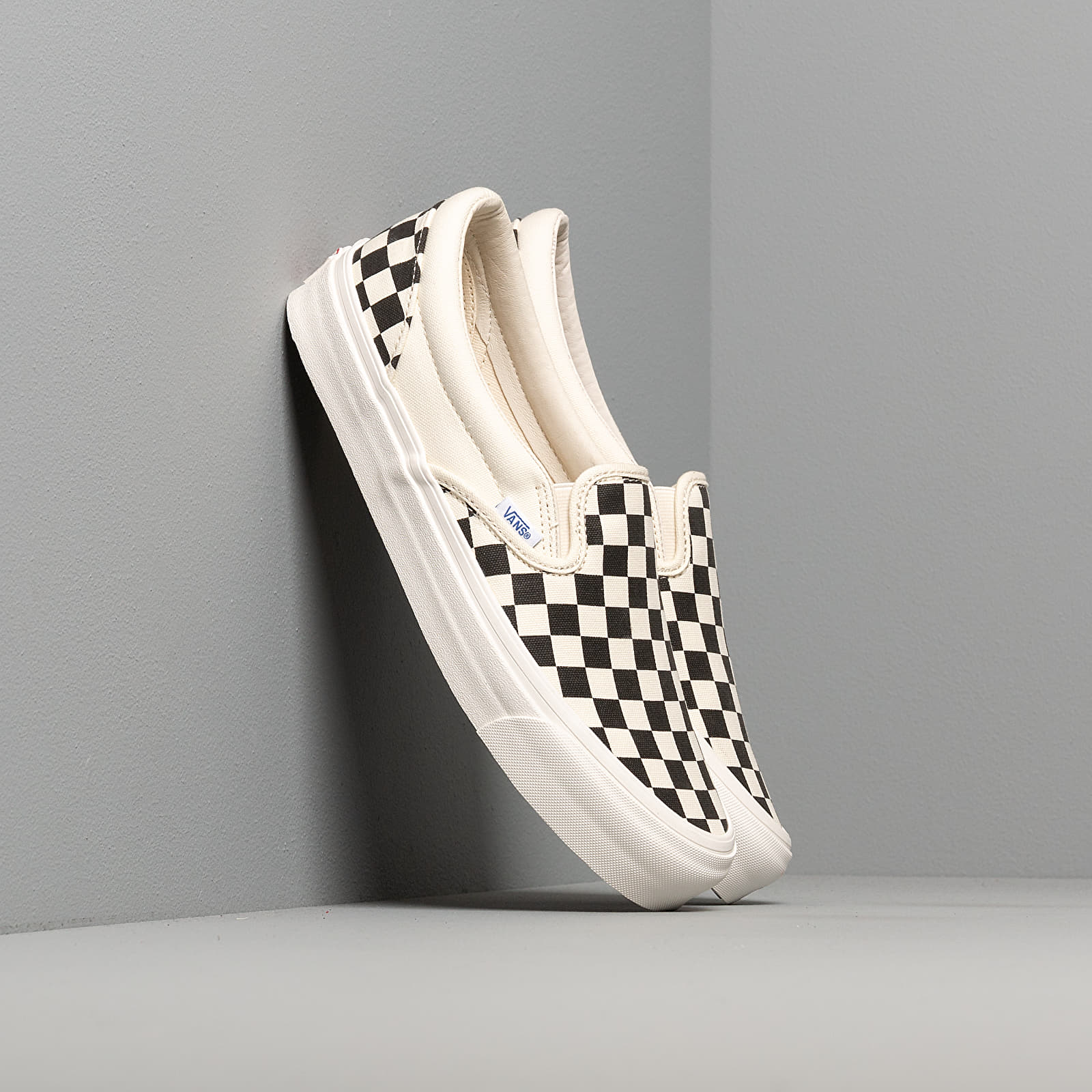 Vans OG Classic Slip On LX (Canvas) Black White Checkerboard | Footshop