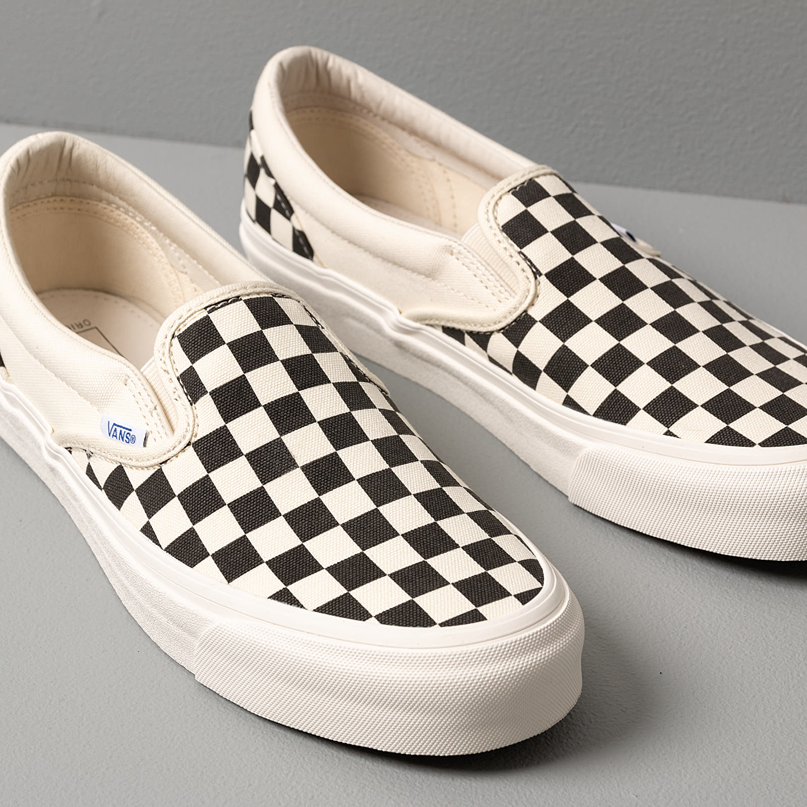 Vans OG Classic Slip On LX (Canvas)Black White Checkerboard