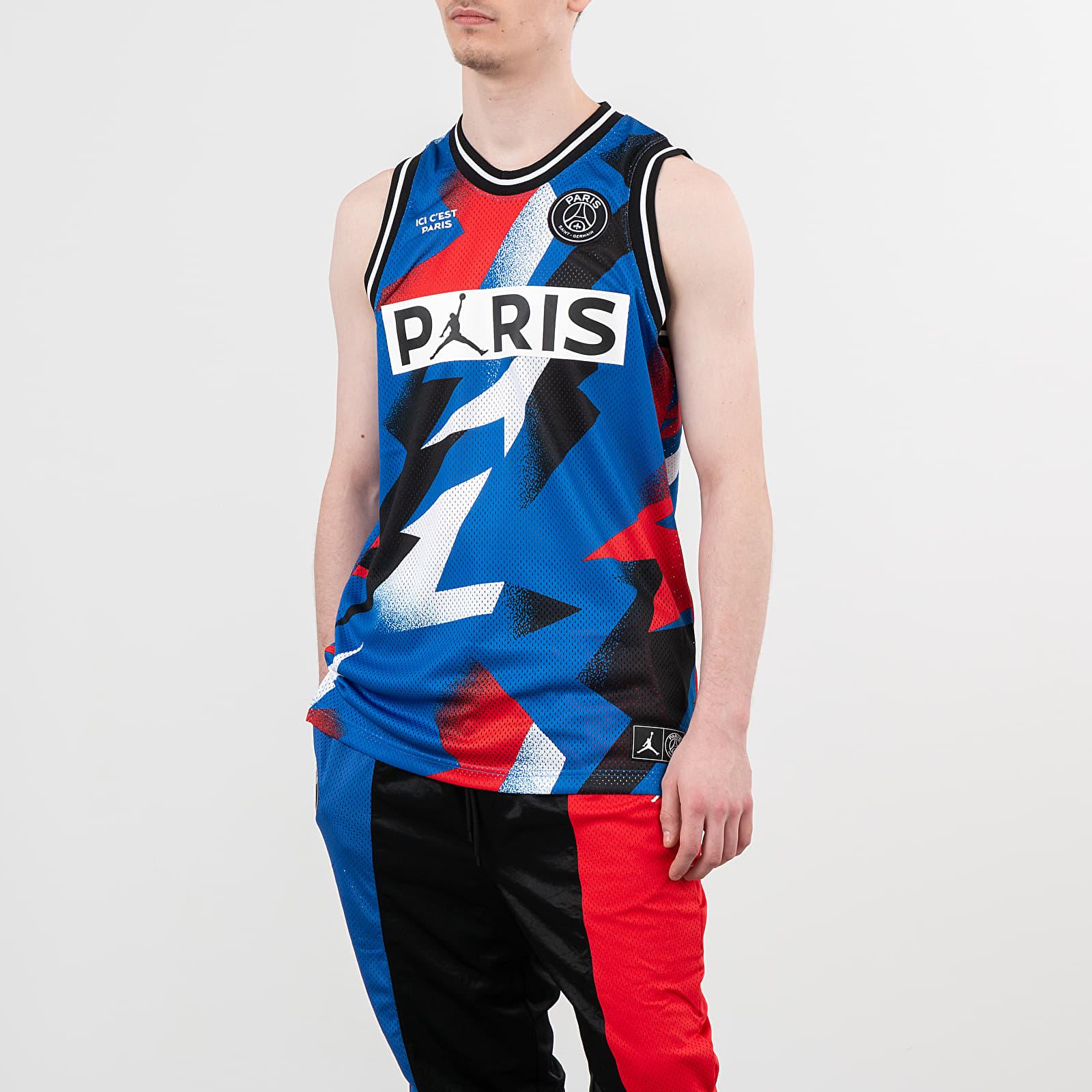 T-Shirts Jordan Paris Saint-Germain Mesh Jersey Hyper Cobalt