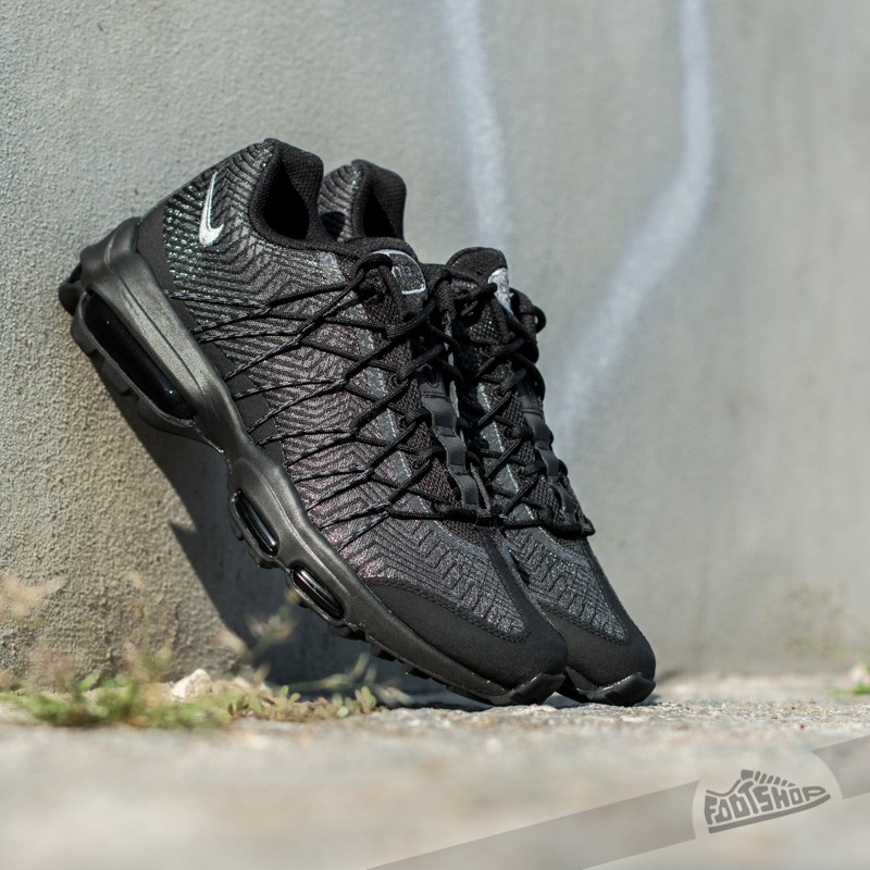 893117978c ... hot nike air max 95 ultra jacquard black silver dark grey white d59ea  ecf72