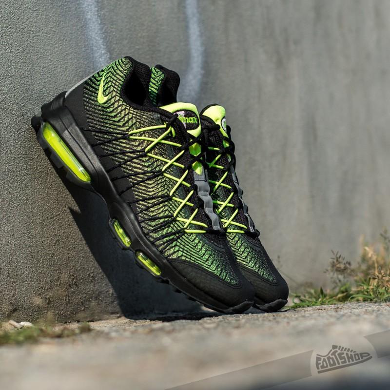 sports shoes 823b8 30fa7 Nike Air Max 95 Ultra Jacquard Black Volt-Dark Grey-Metallic Silver