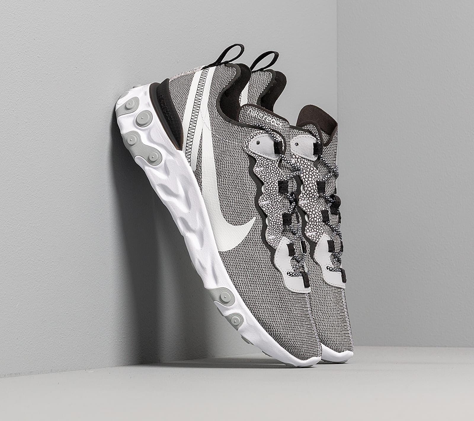 Nike React Element 55 Se White/ Pure Platinum-Wolf Grey-Black EUR 43