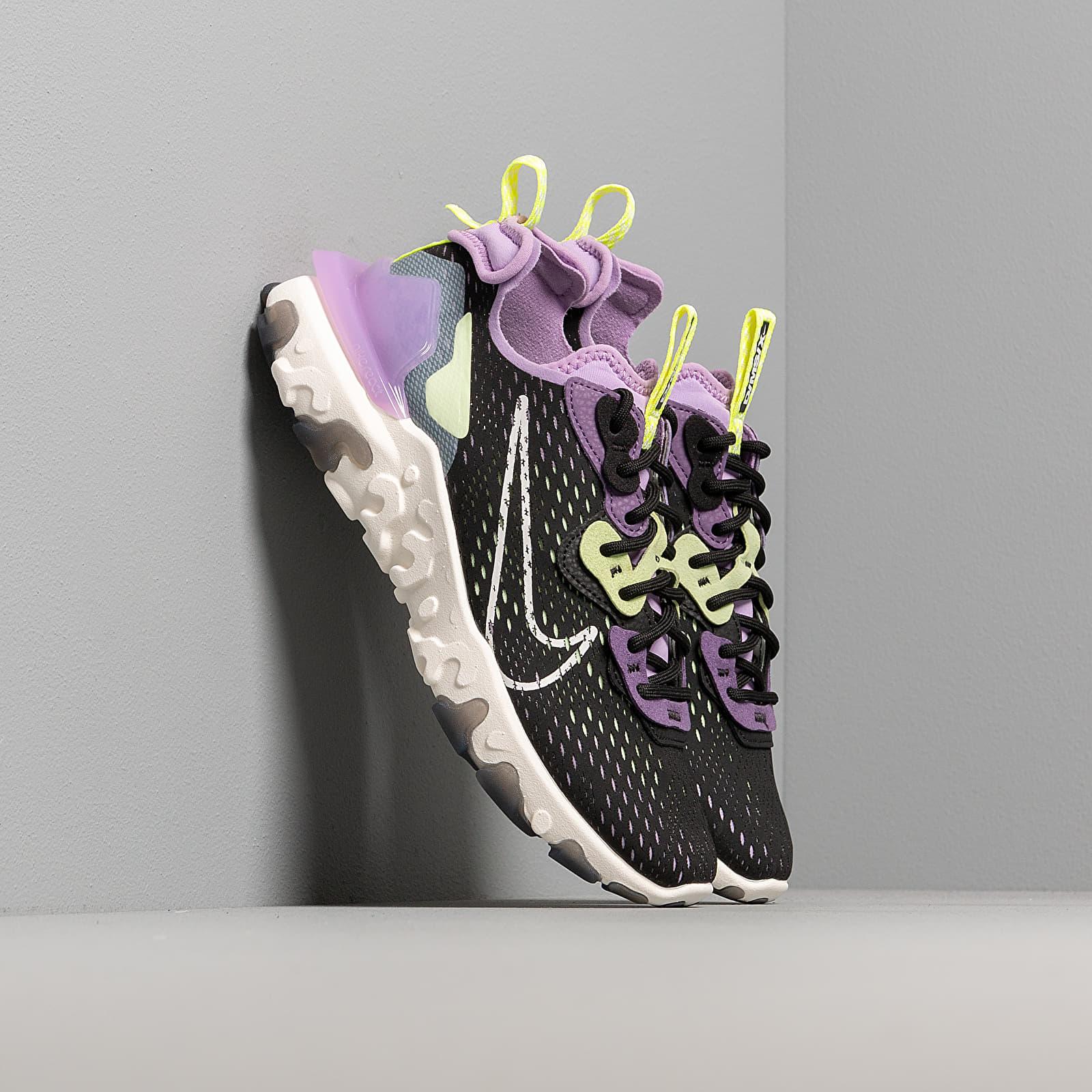 Încălțăminte și sneakerși pentru femei Nike W Nsw React Vision Black/ Sail-Dk Smoke Grey-Gravity Purple