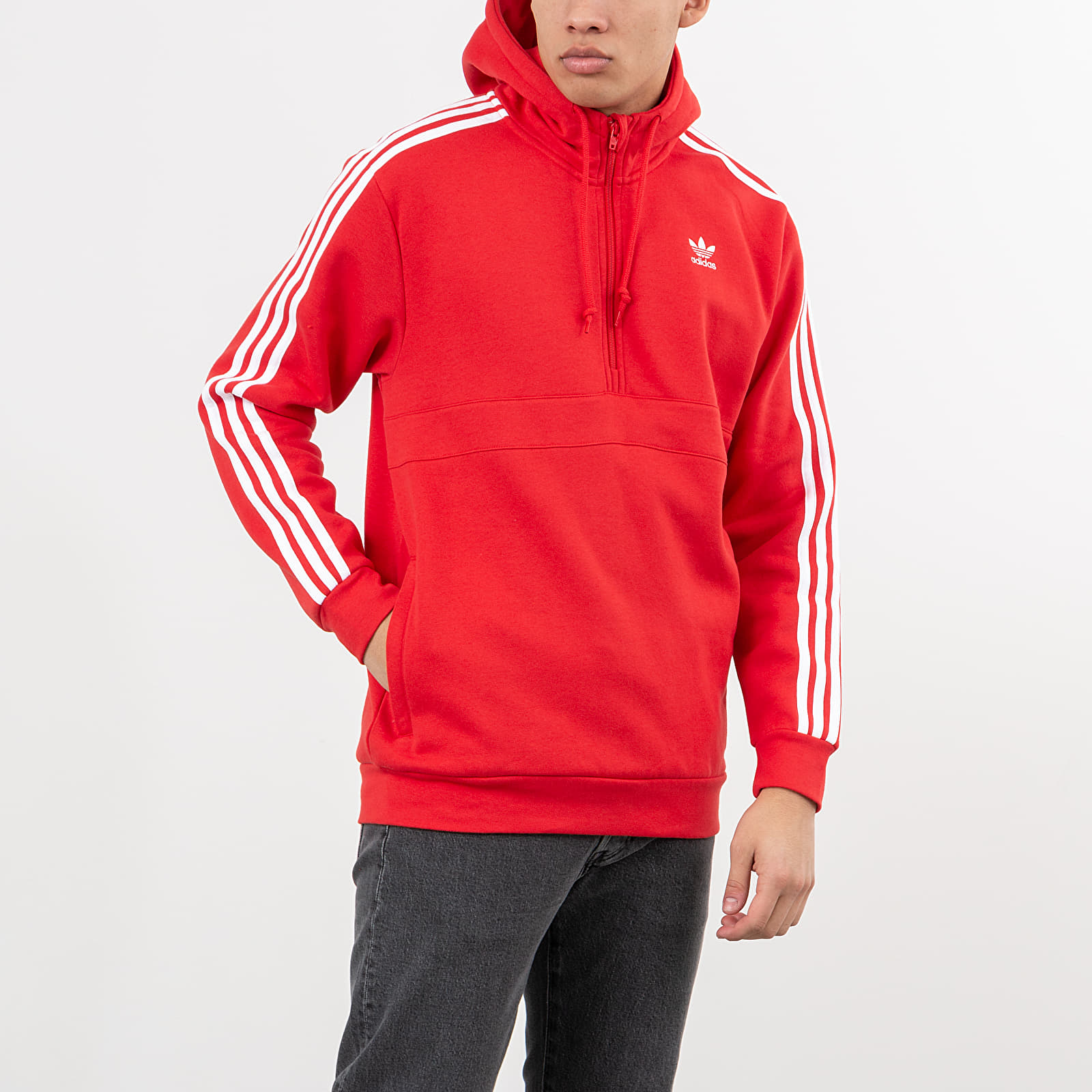 adidas 3-Stripes Half Zip Sweatshirt