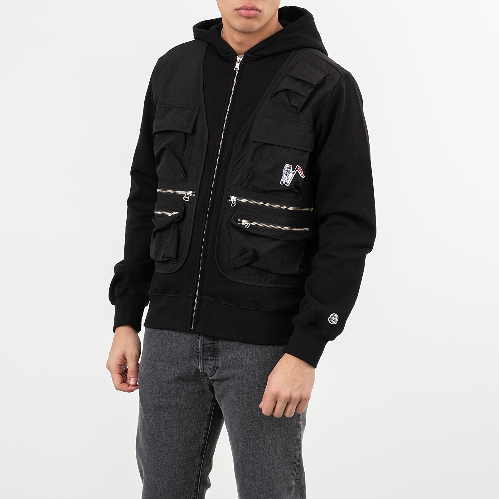 Hanorace și bluze Billionaire Boys Club Tactical Zip Through Hoodie Black