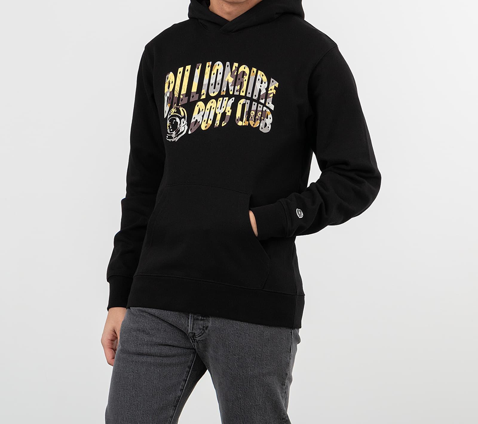 Billionaire Boys Club Camo Arch Logo Popover Hoodie Black