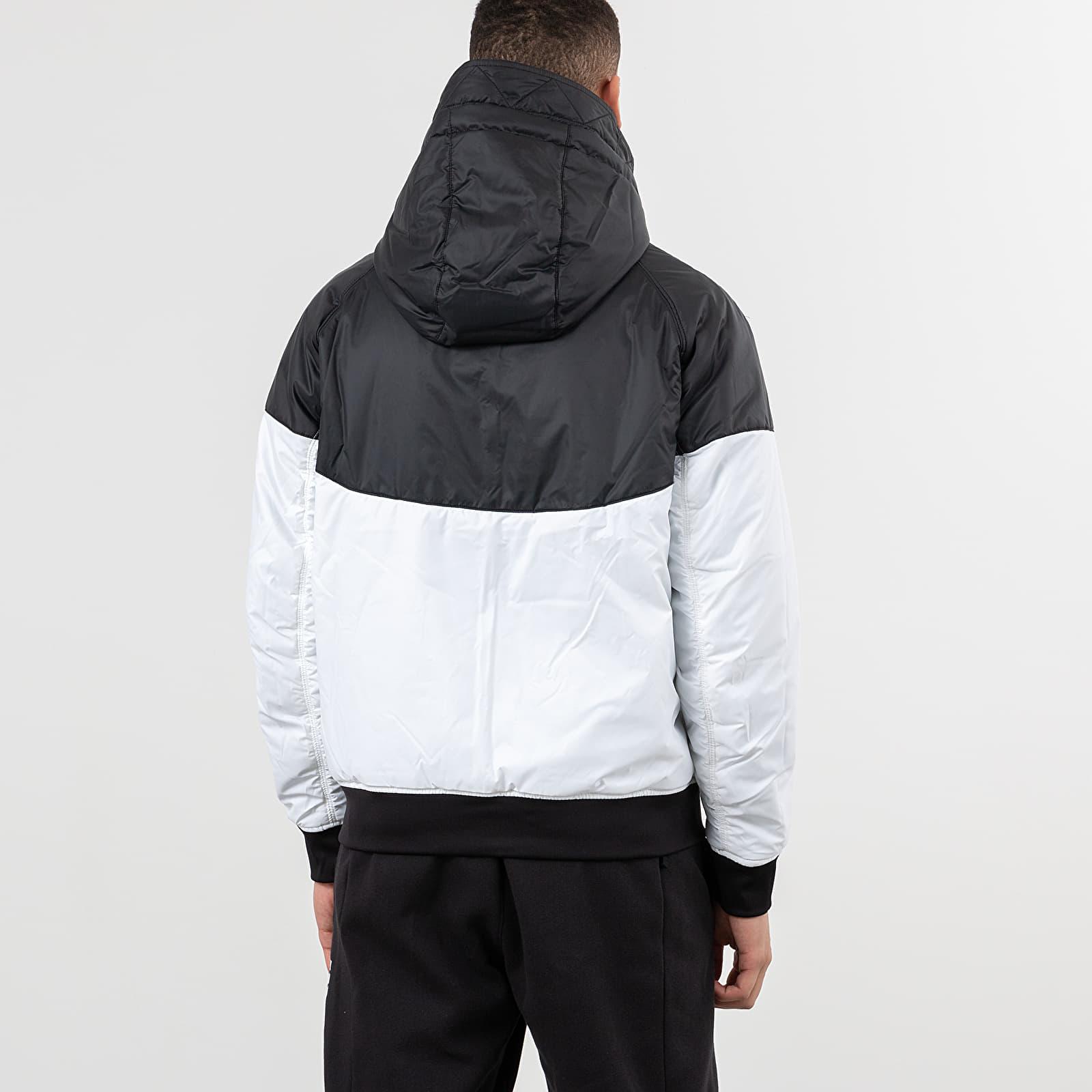Nike Sportswear Windrunner Hooded Reversible Jacket Black Black White Sail | Footshop
