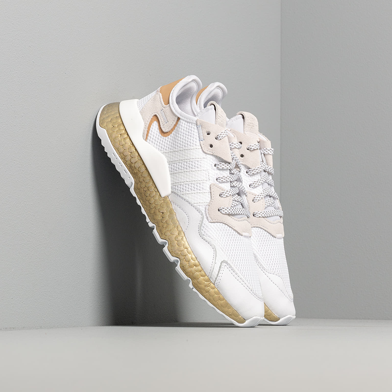 Women's shoes adidas Nite Jogger W Ftw White/ Periwinkle/ Gold Metalic