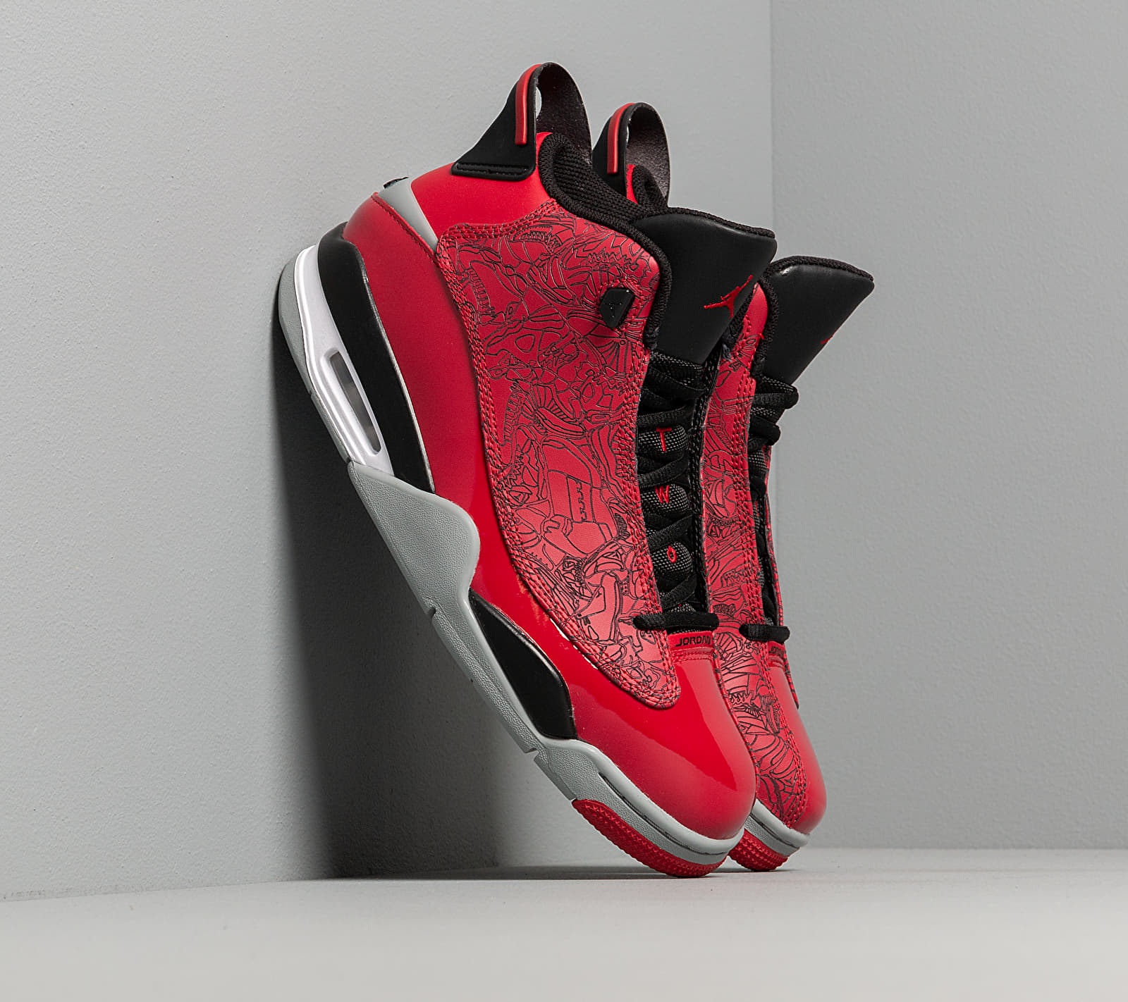Air Jordan Dub Zero Gym Red/ Gym Red-Black-Particle Grey EUR 42.5
