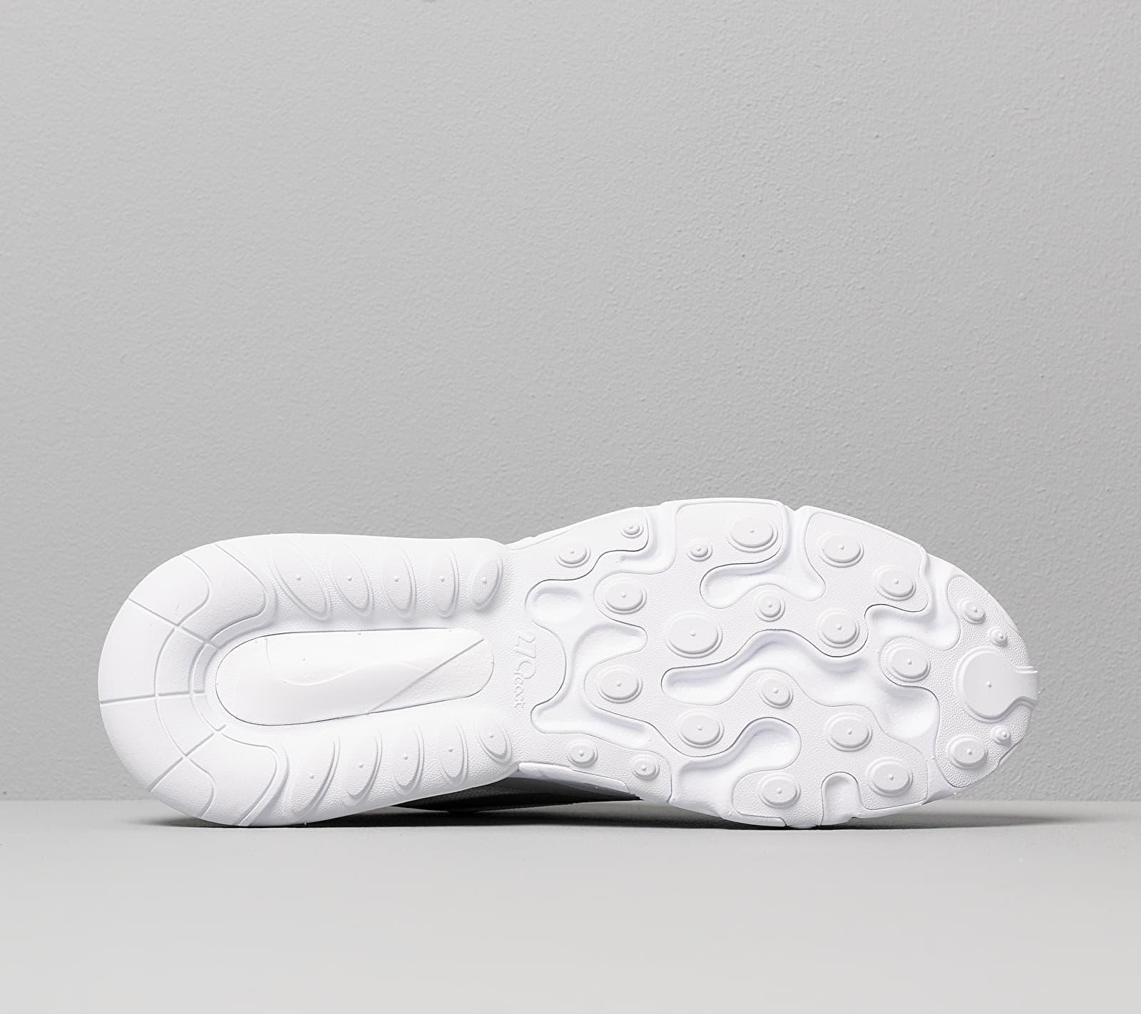 Nike Air Max 270 React White/ Lt Smoke Grey-Pure Platinum