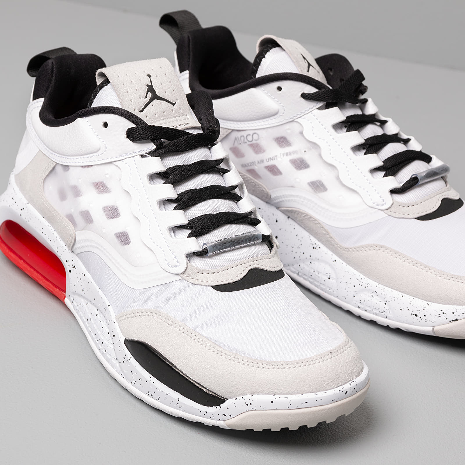 Jordan Max 200 White Black Challenge Red Vast Grey | Footshop