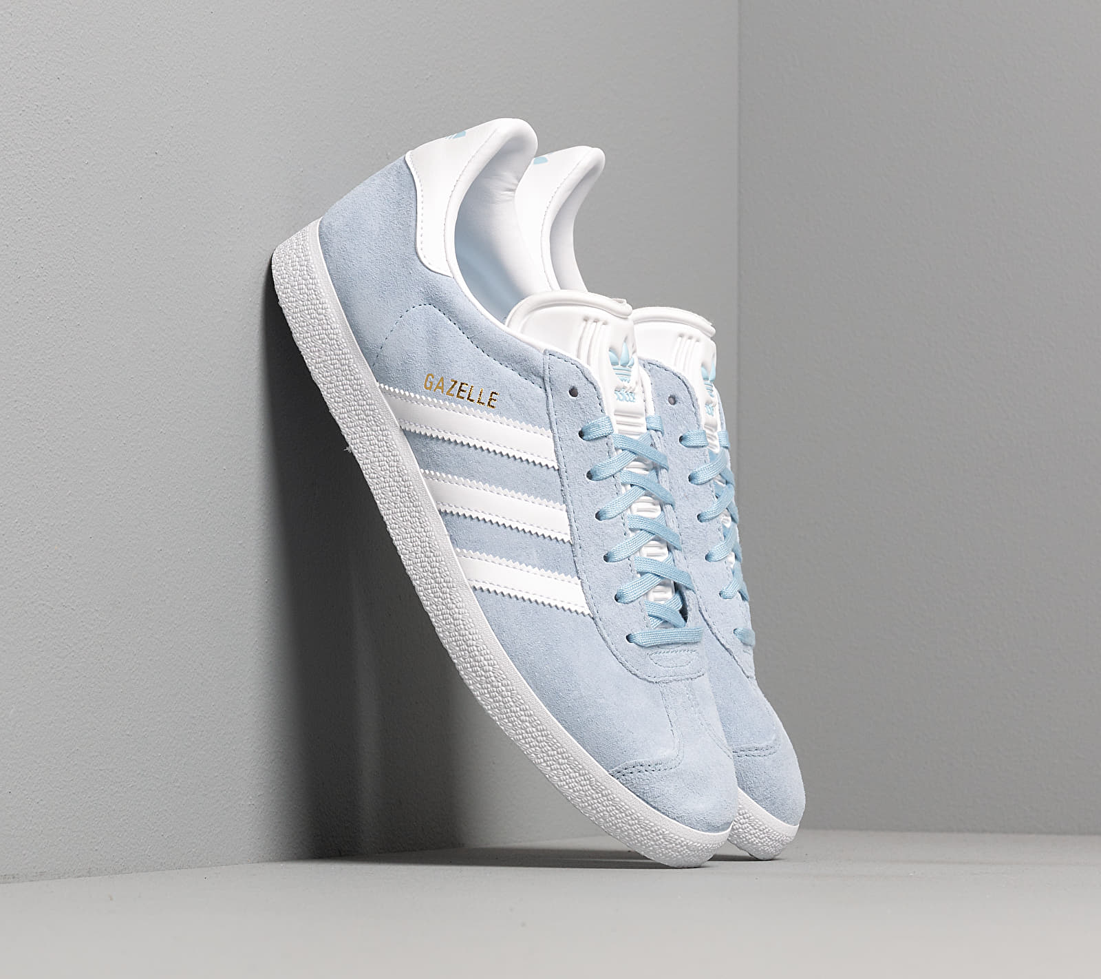 adidas Gazelle Clear Sky/ Ftw White/ Gold Metalic EUR 46