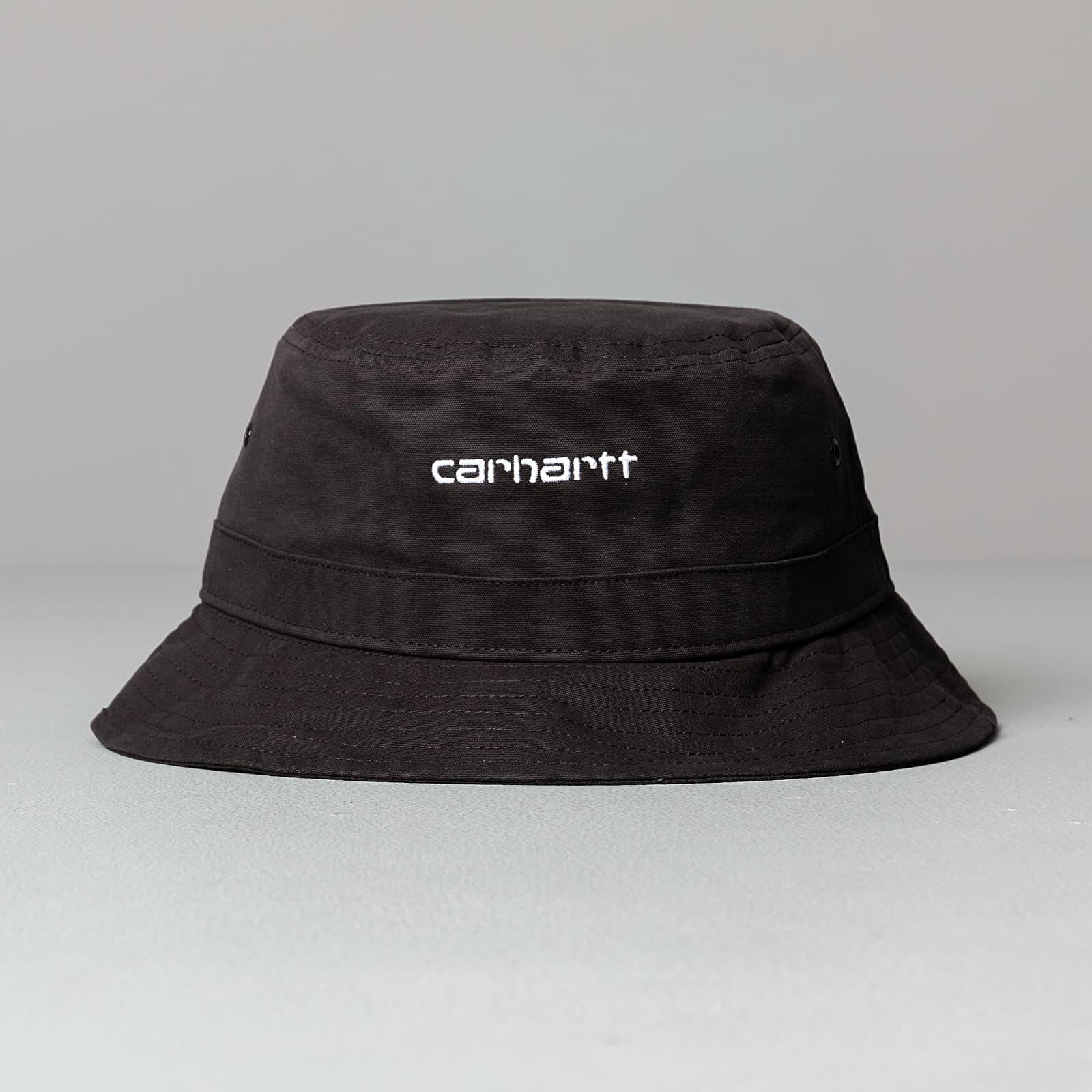 UNISEX HAT CARHARTT WIP SCRIPT BUCKET I026217 HAMILTON BROWN//BLACK