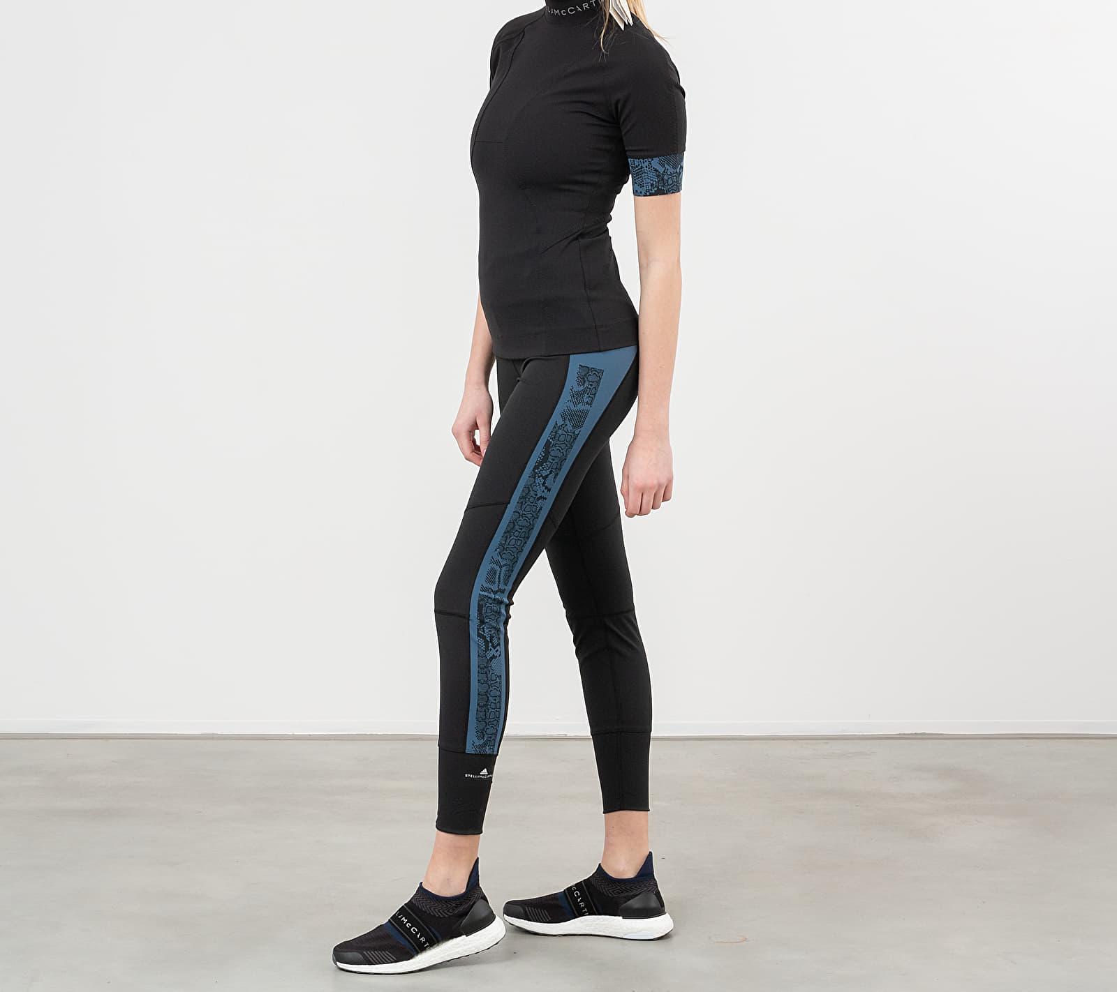 adidas x Stella McCartney Run Tights HEAT.RDY Black/ Vista Blue XS