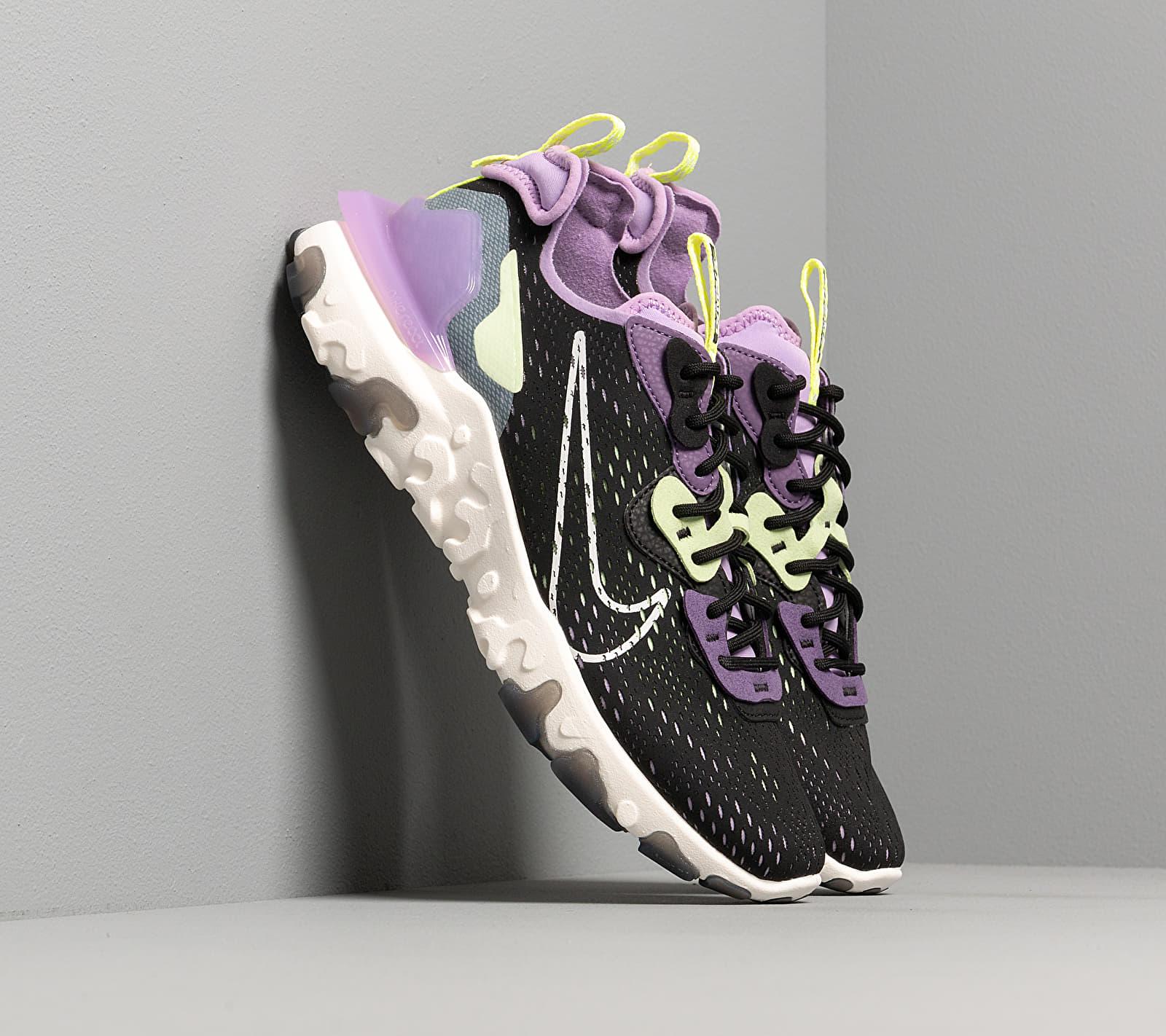 Nike React Vision Black/ Sail-Dk Smoke Grey-Gravity Purple