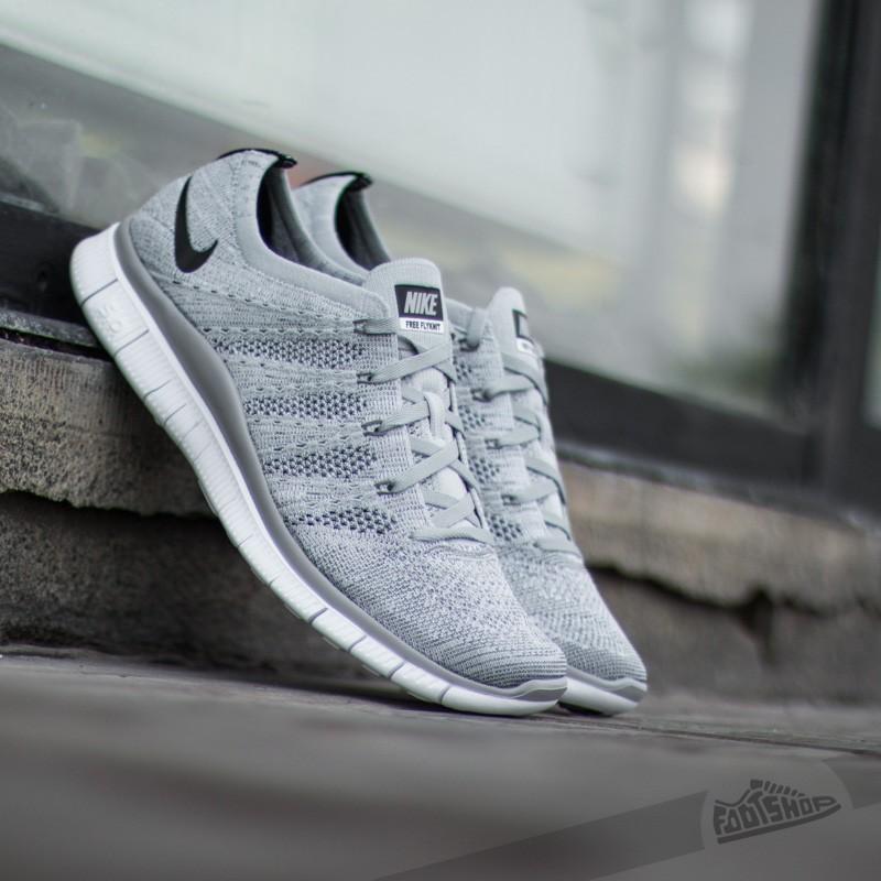 2cd6d04c7 Nike Free Flyknit NSW Wofl Grey Black-Dark Grey-White