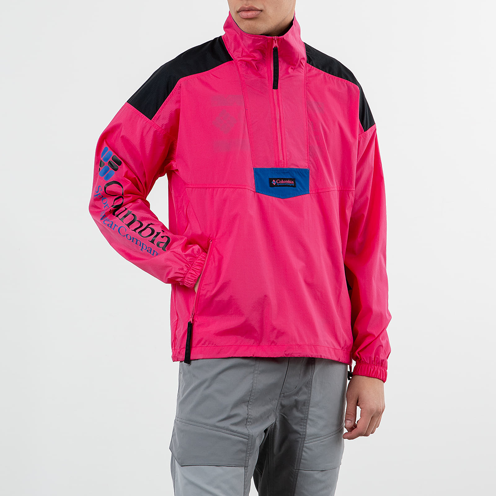 Bundy Columbia Santa Ana Anorak Jacket Cactus Pink/ Black