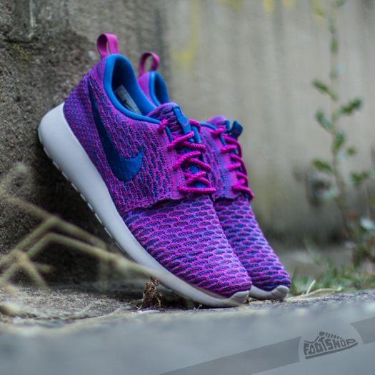 Nike Wmns Roshe One Flyknit Fuchsia Flash Gym Royal Vnc   Footshop