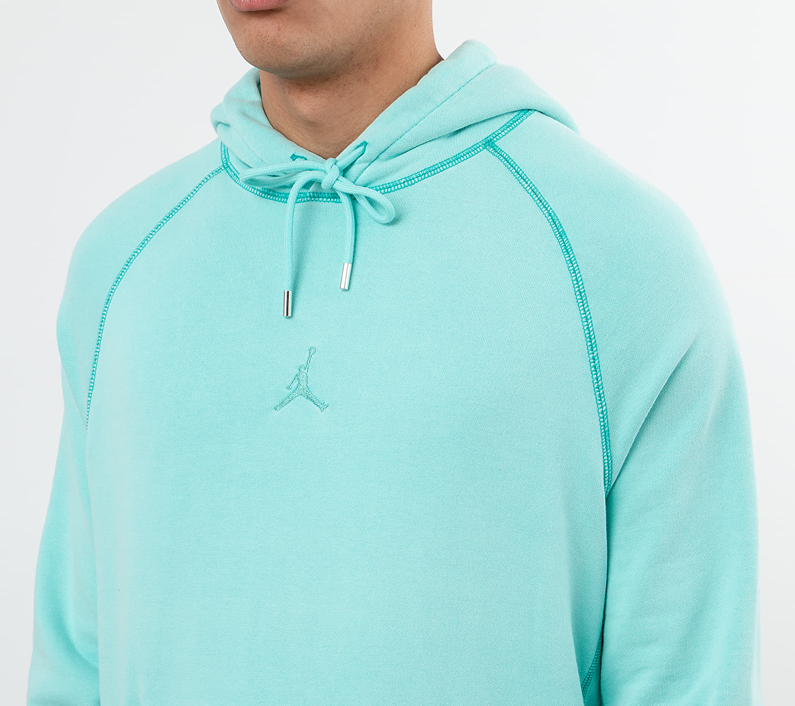 Jordan Wings Wash Fleece Hoodie Light Aqua/ Light Aqua, Blue