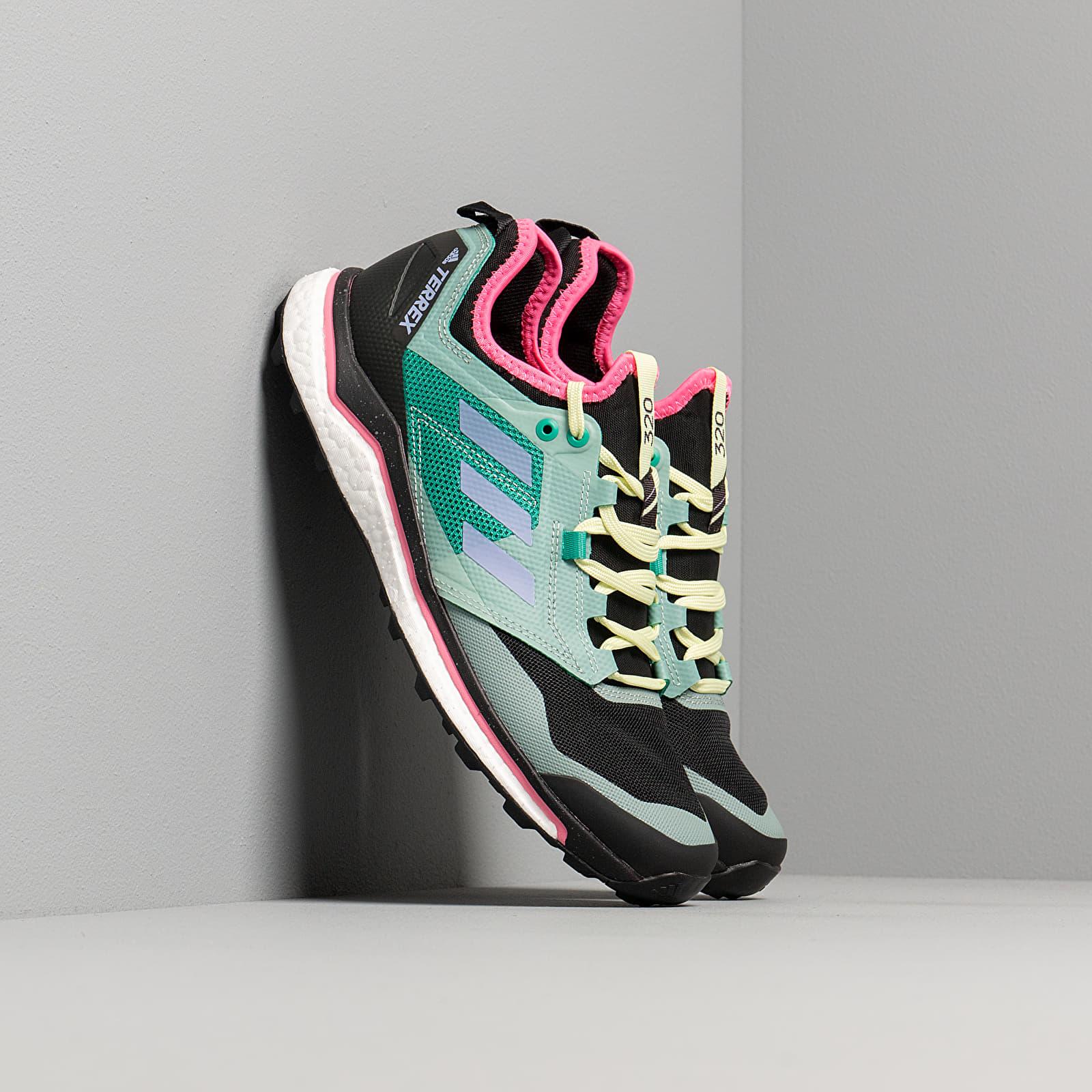 Men's shoes adidas Terrex Agravic XT Core Black/ Light Purple/ Glow Green