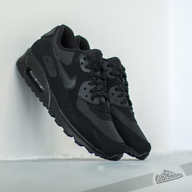 nike air max 90 essential balck noir leather