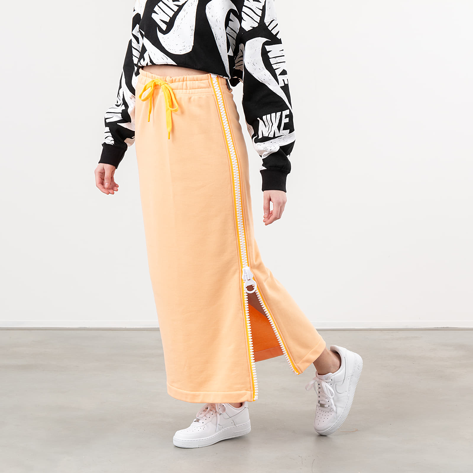 Krila Nike Sportswear Fleece Long Skirt Orange Chalk/ White/ Laser Orange