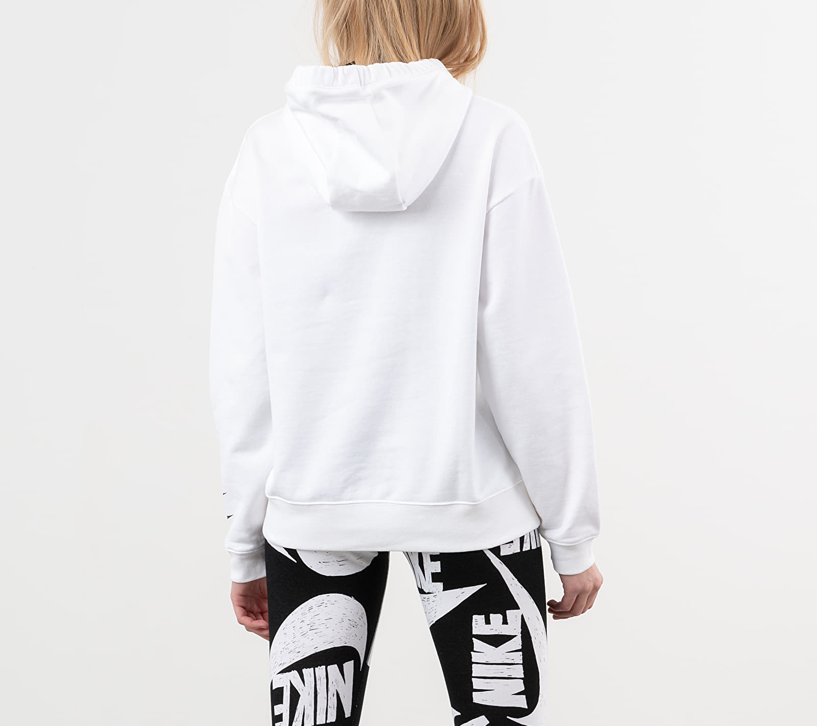 Nike Sportswear Swoosh Hoodie White/ Black