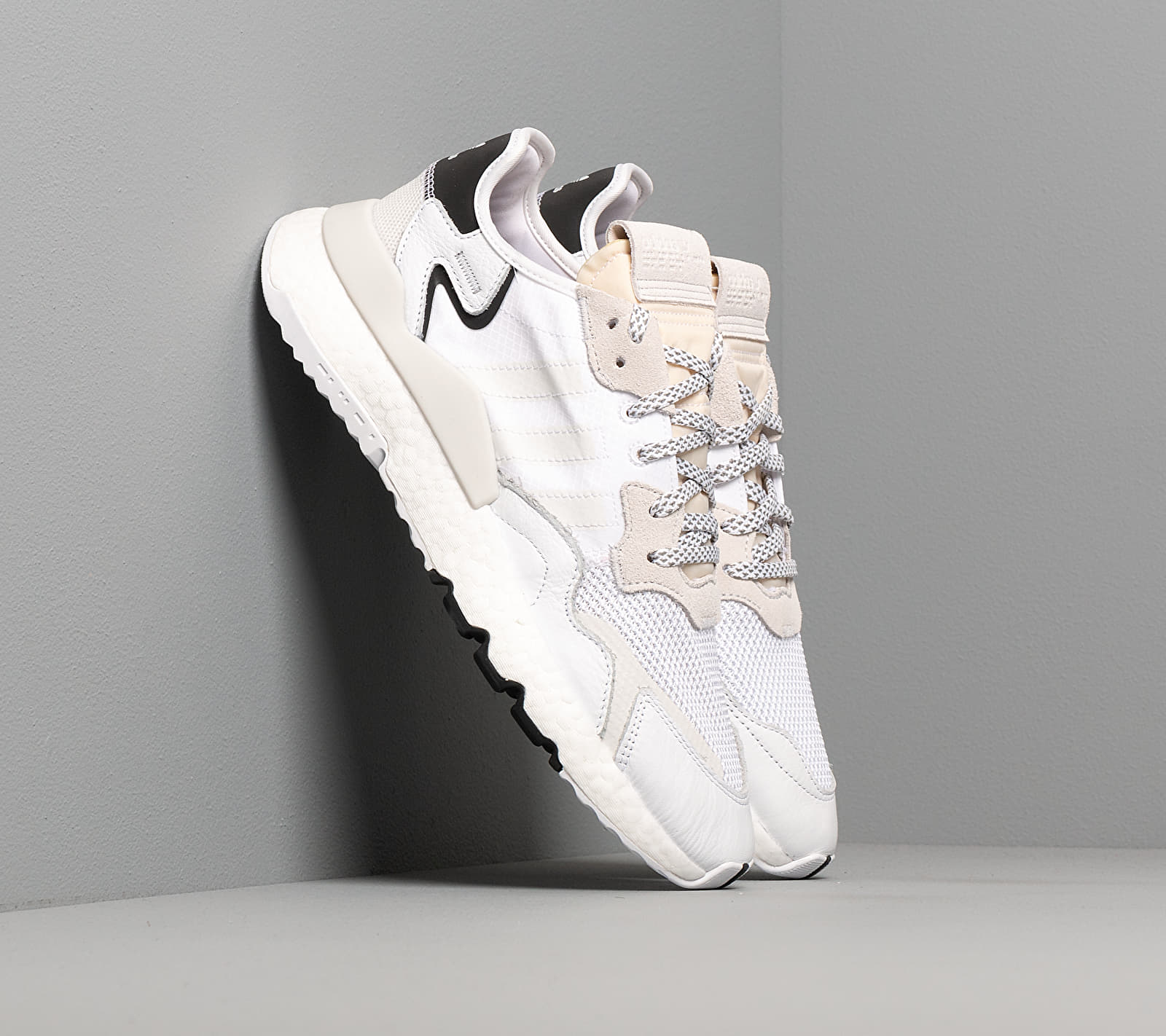 adidas Nite Jogger Ftw White/ Ftw White/ Crystal White EUR 44 2/3