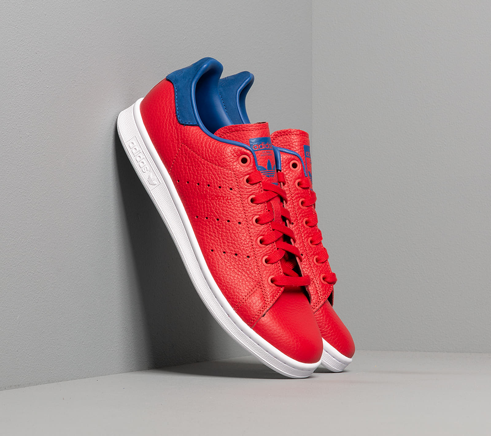 adidas Stan Smith Scarlet/ Scarlet/ Core Royal EUR 46 2/3