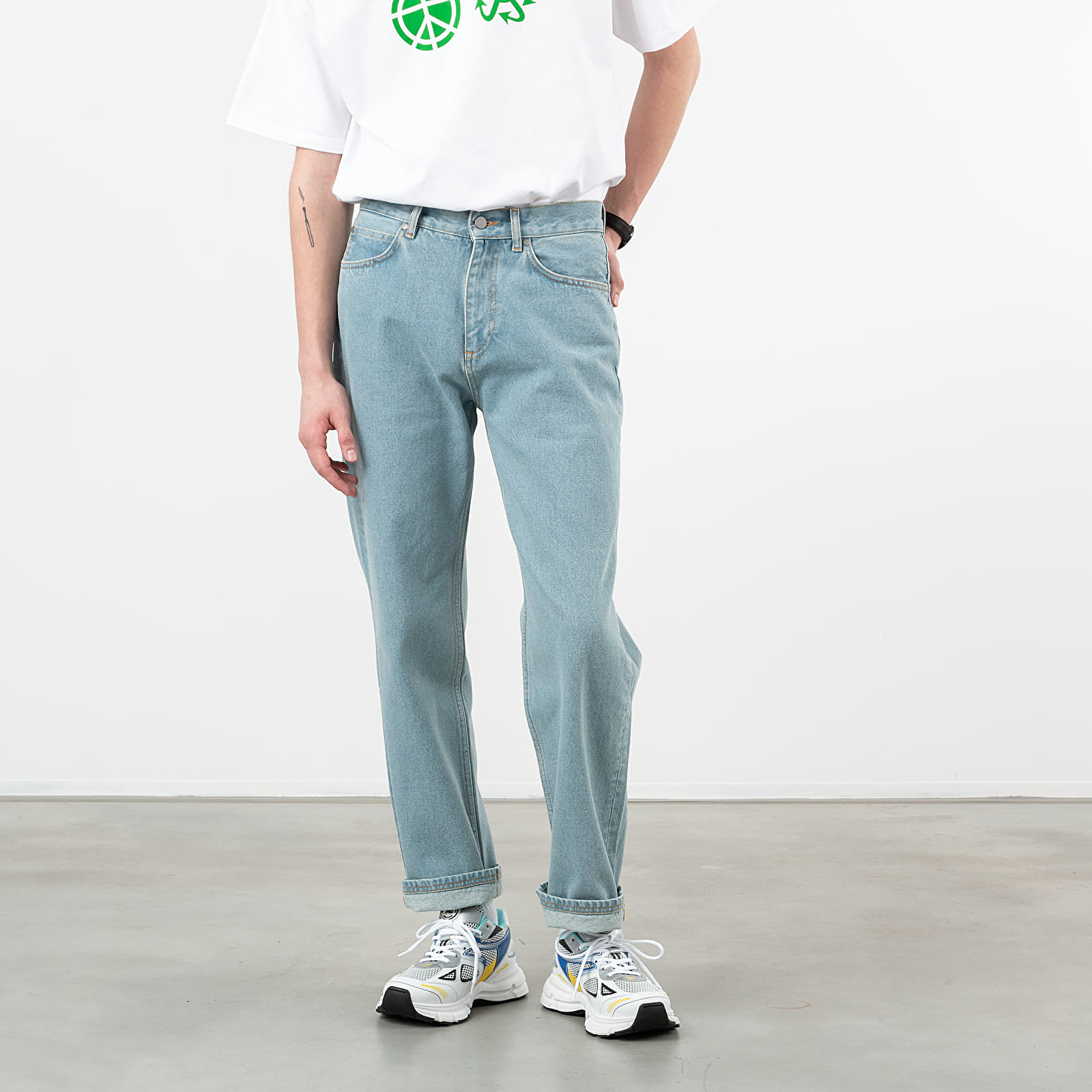 Pantalons PACCBET Loose Straight Cut Jeans Light Wash Blue