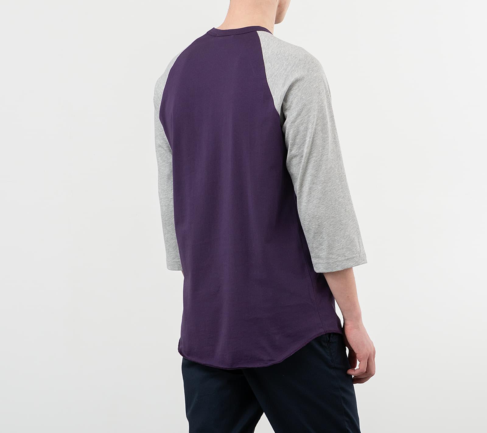 Comme des Garçons SHIRT Logo Baseball Tee Purple/ Grey