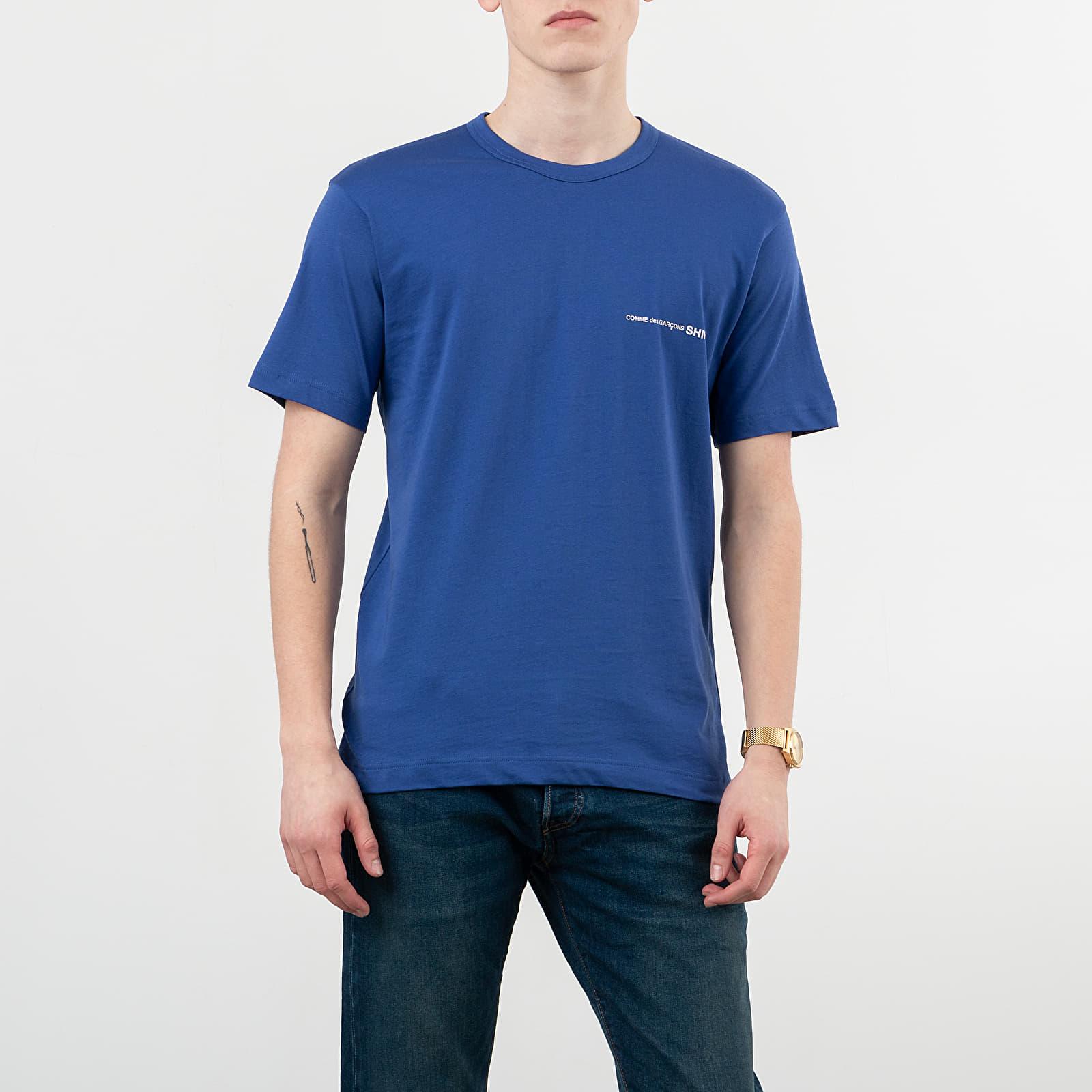 T-shirts Comme des Garçons SHIRT Logo Tee Blue