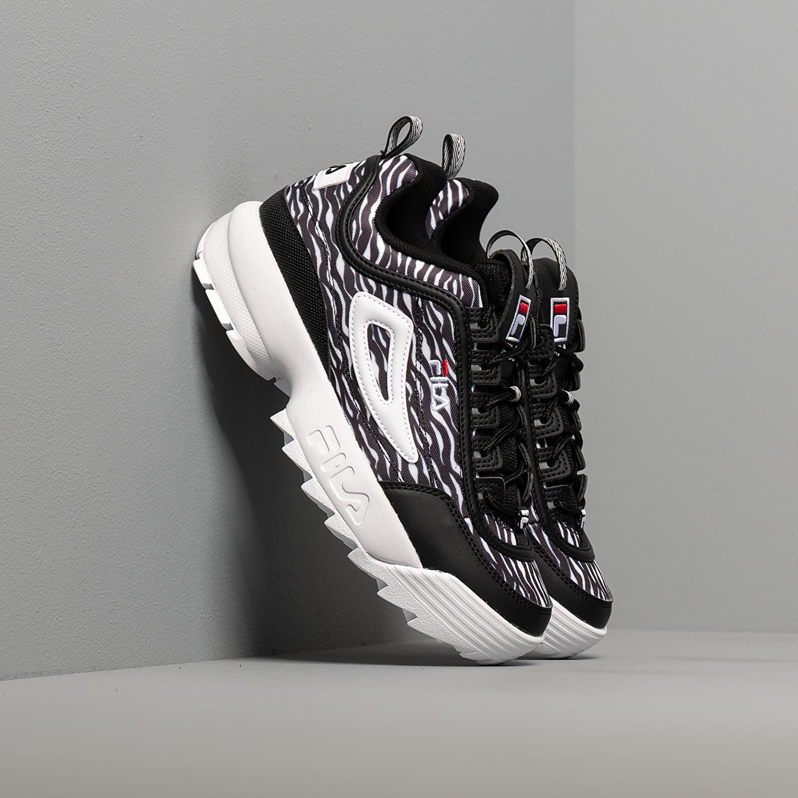 Dámské tenisky a boty Fila Disruptor Animal WMN Zebra/ Black