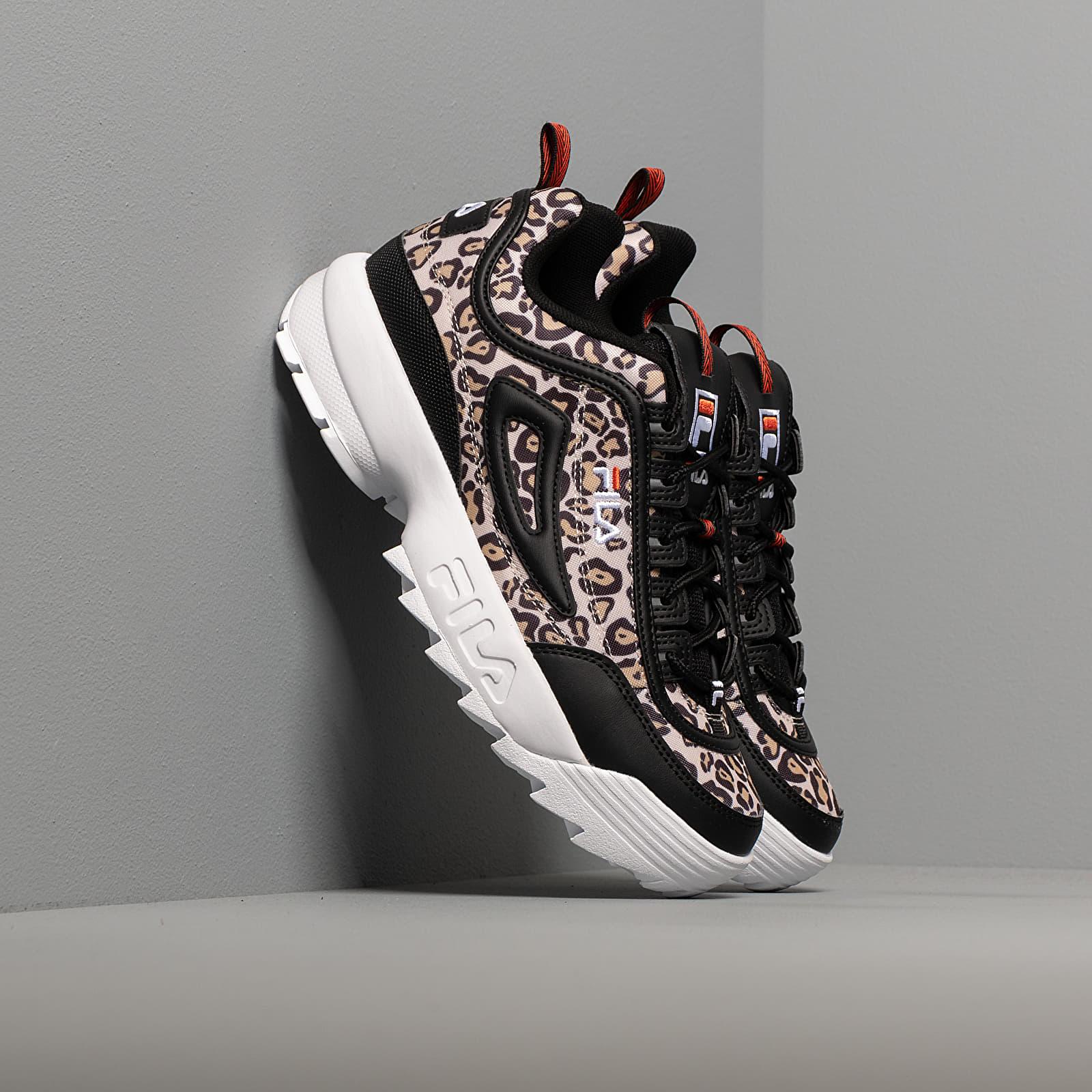 Dámske topánky a tenisky Fila Disruptor Animal WMN Leopard/ Black