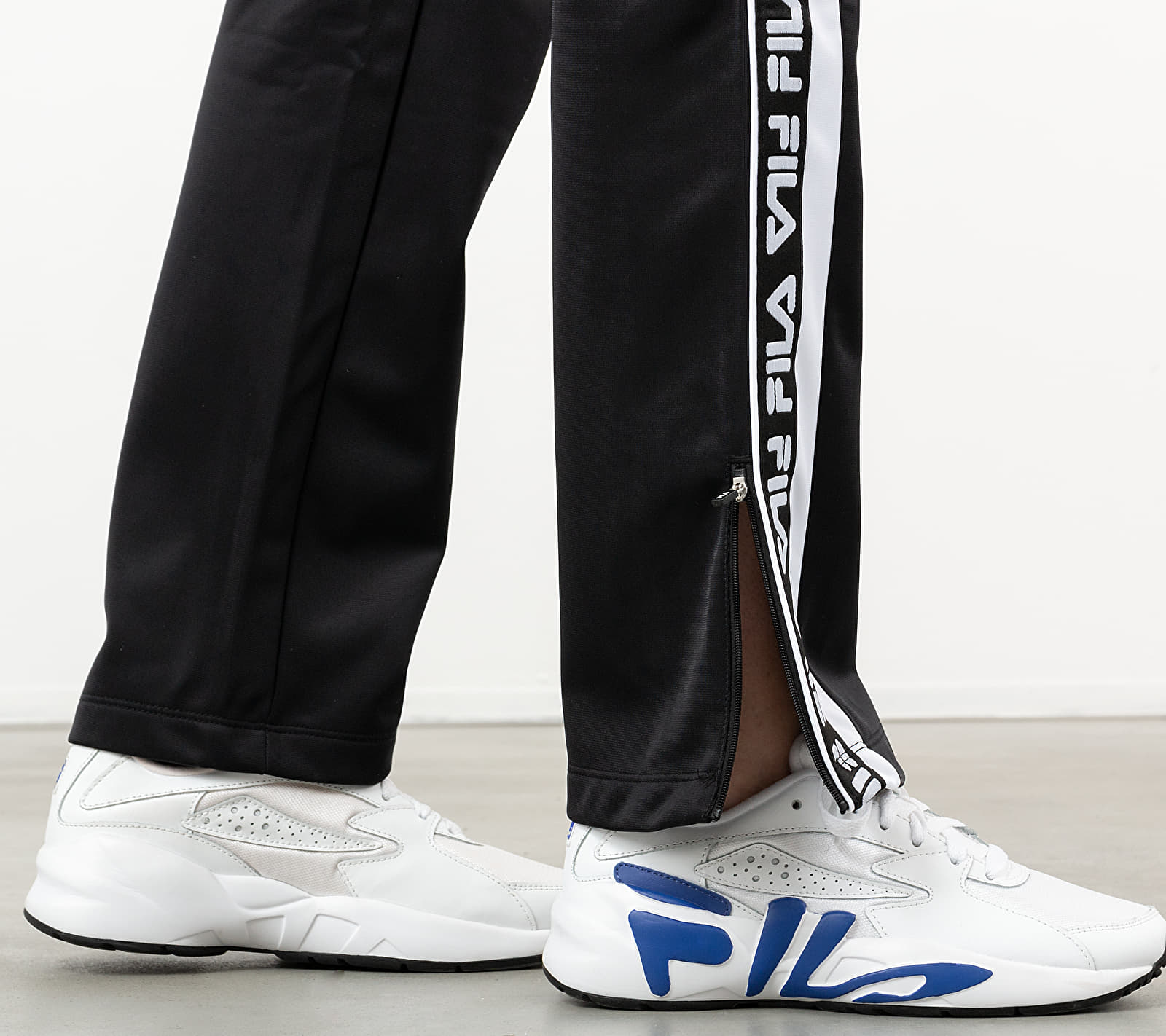 FILA Tao Overlenght Track Pants Black/ Bright White