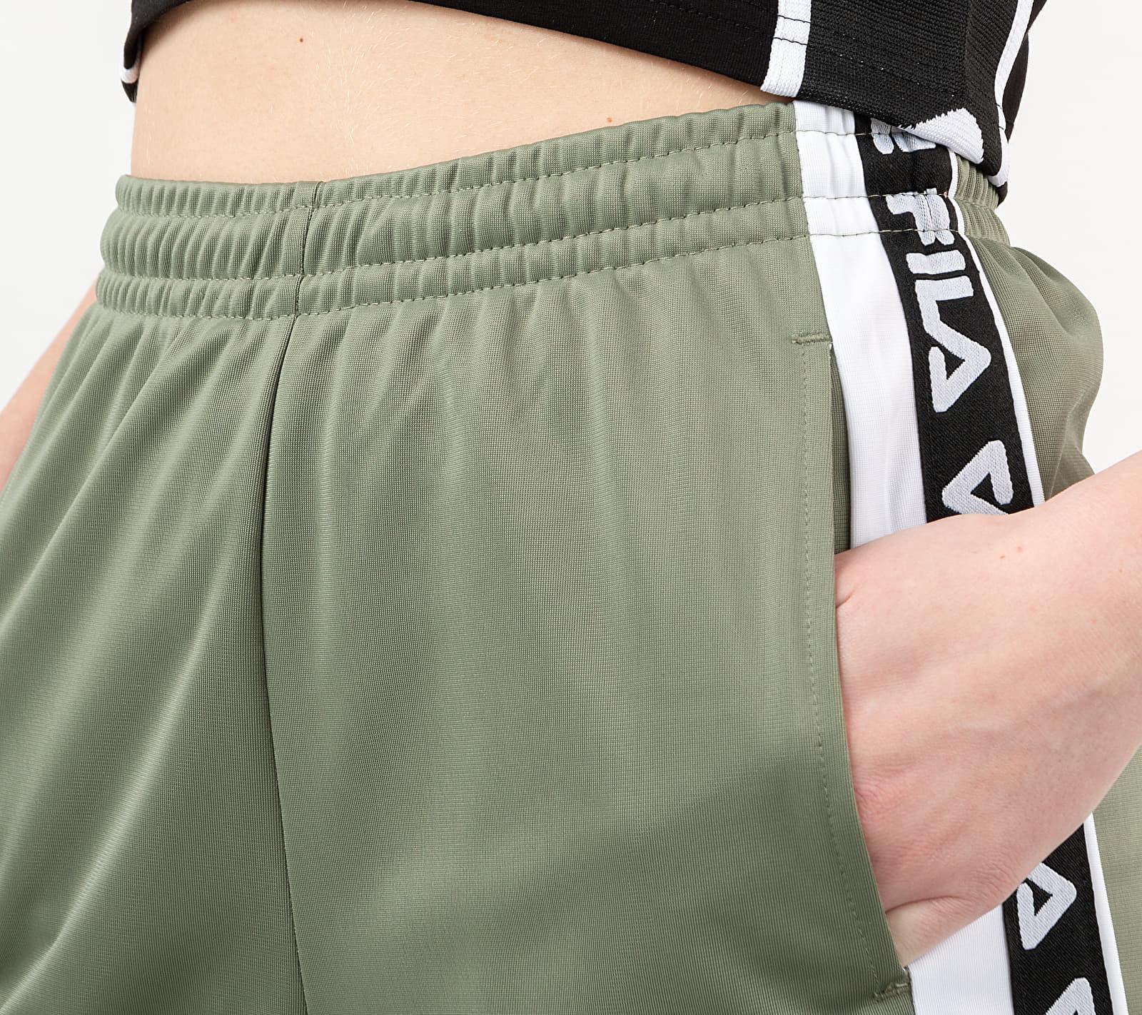 FILA Tarin High Waist Shorts Sea Spray/ Bright White, Green