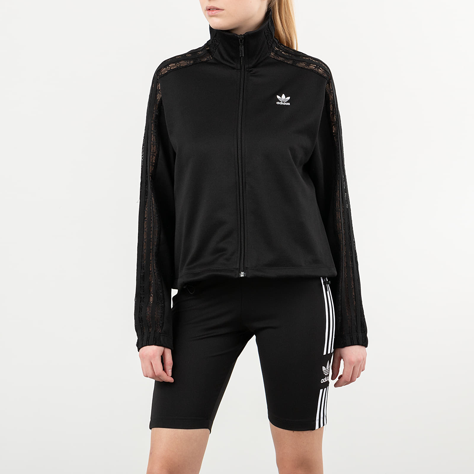 Mikiny a svetry adidas Lace Tracktop Black