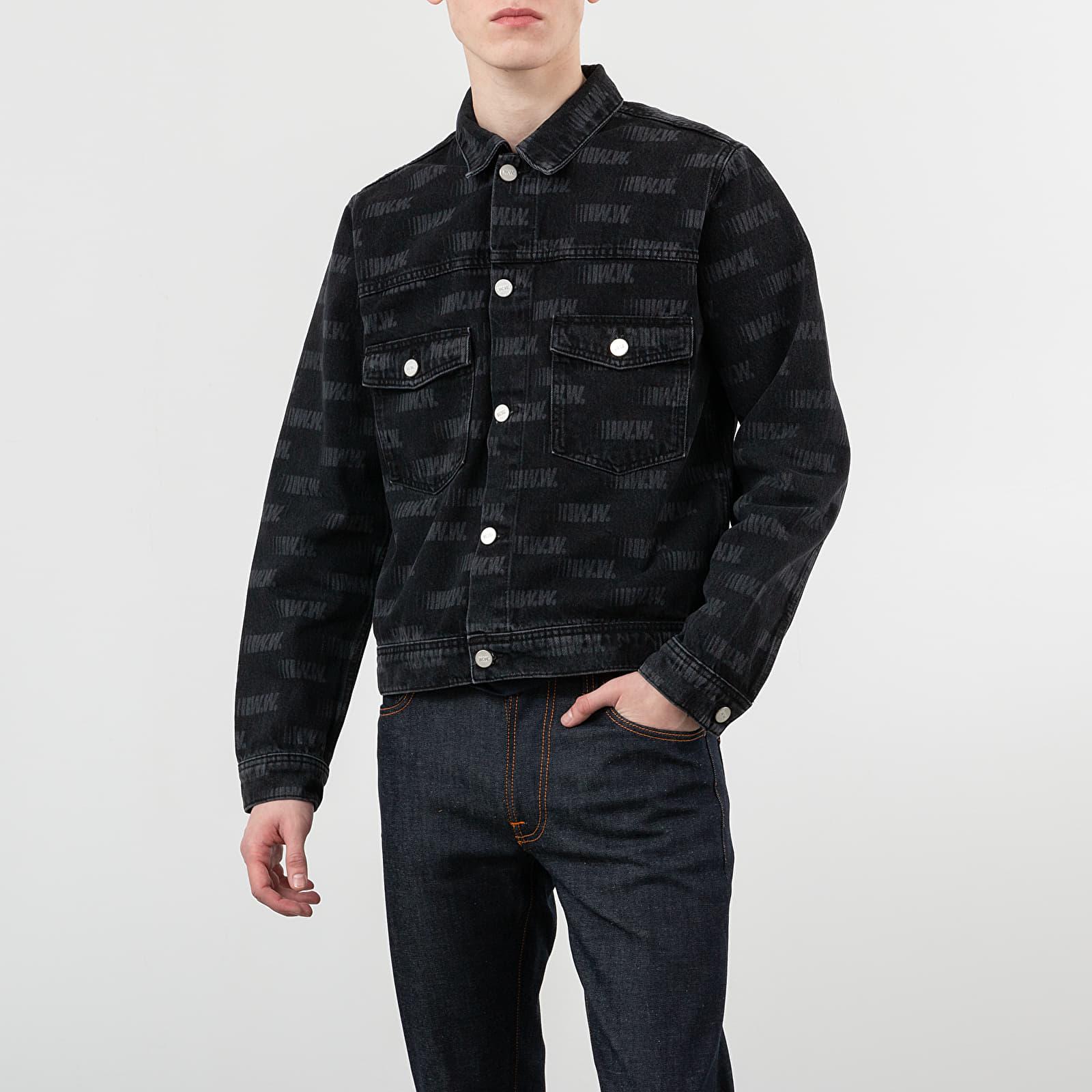 Giacche Wood Wood Cam Jacket Black Aop