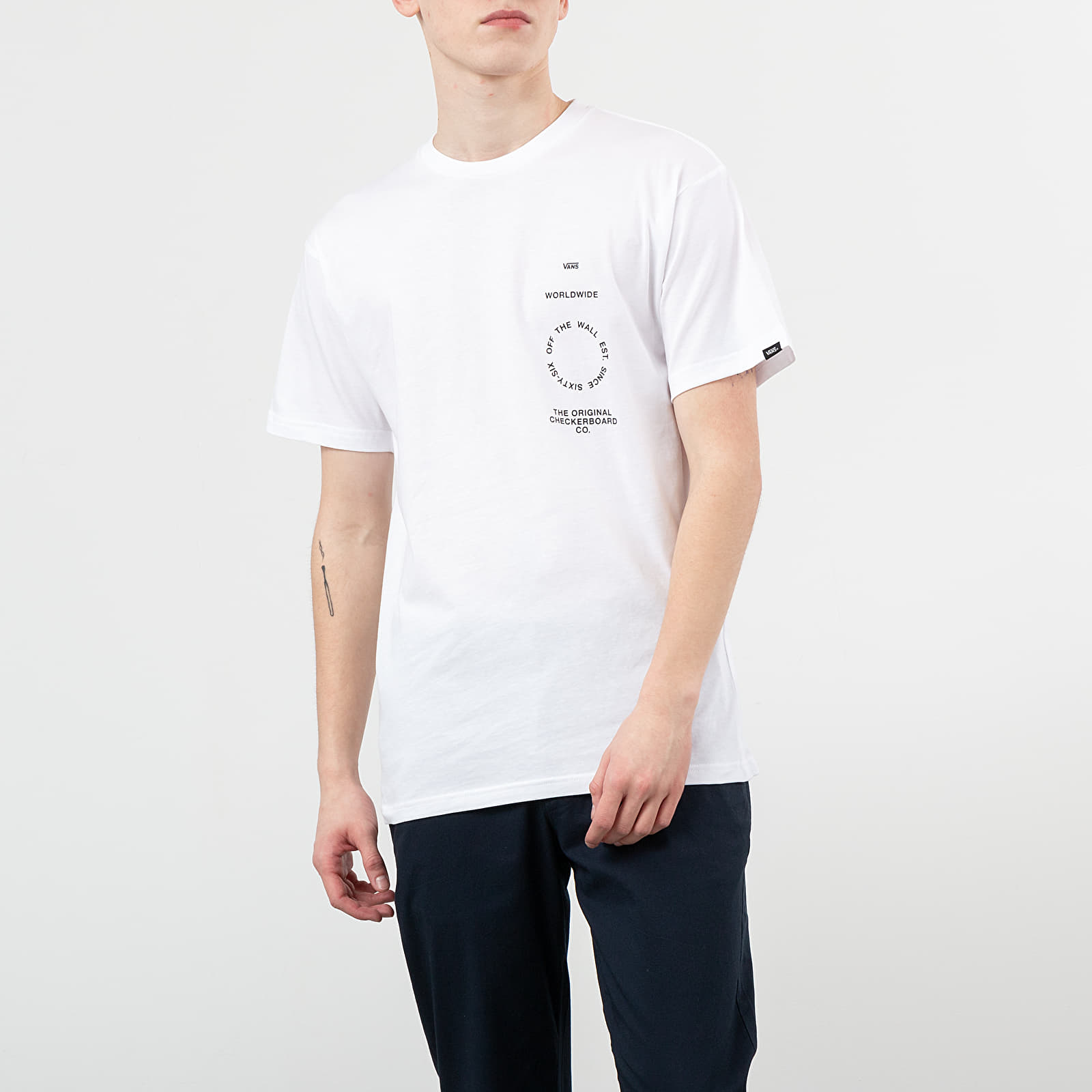 T-Shirts Vans Distortion Type S Tee White