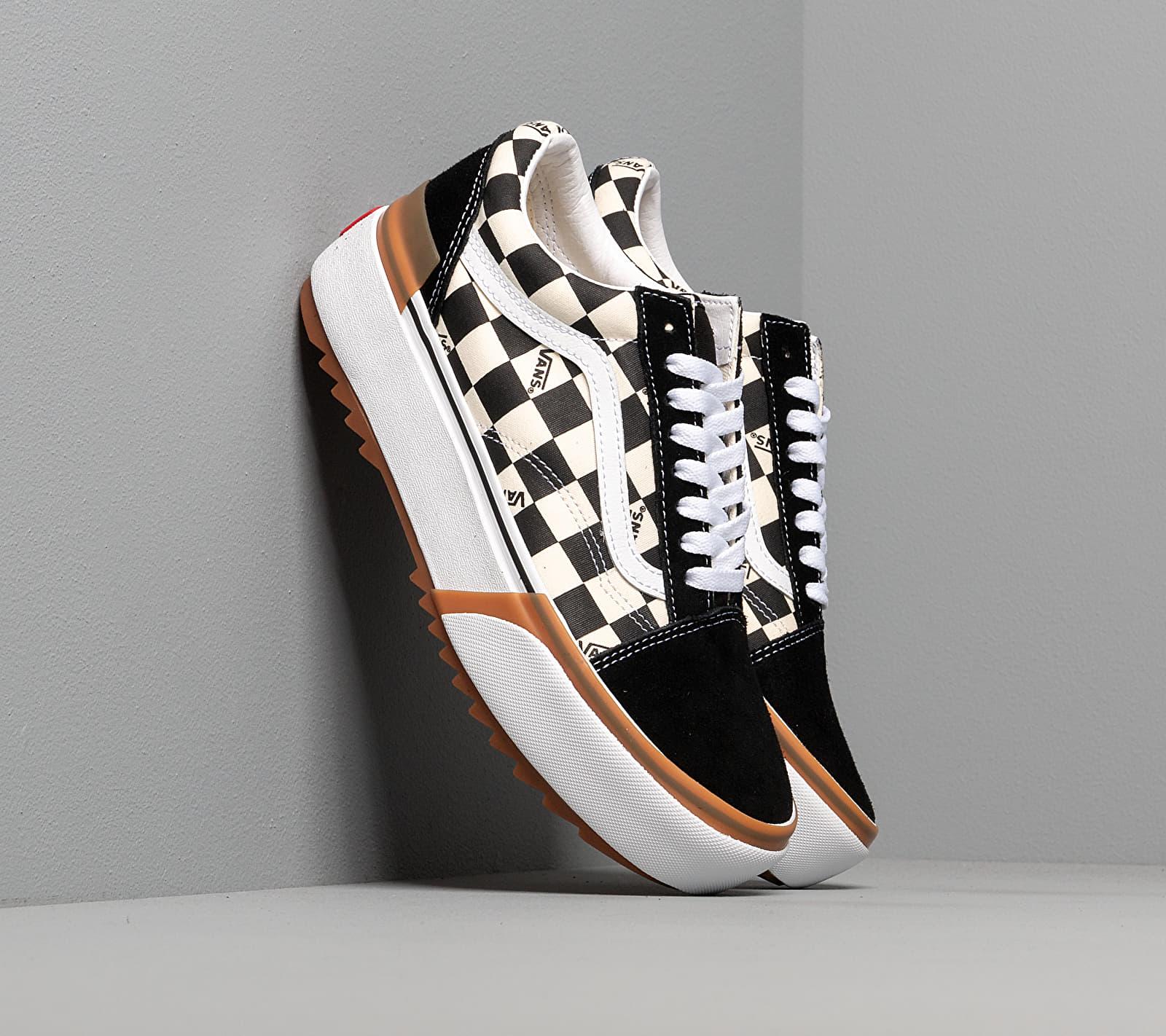 Vans Old Skool Stacked (Checkerboard) Black/ True White EUR 38.5