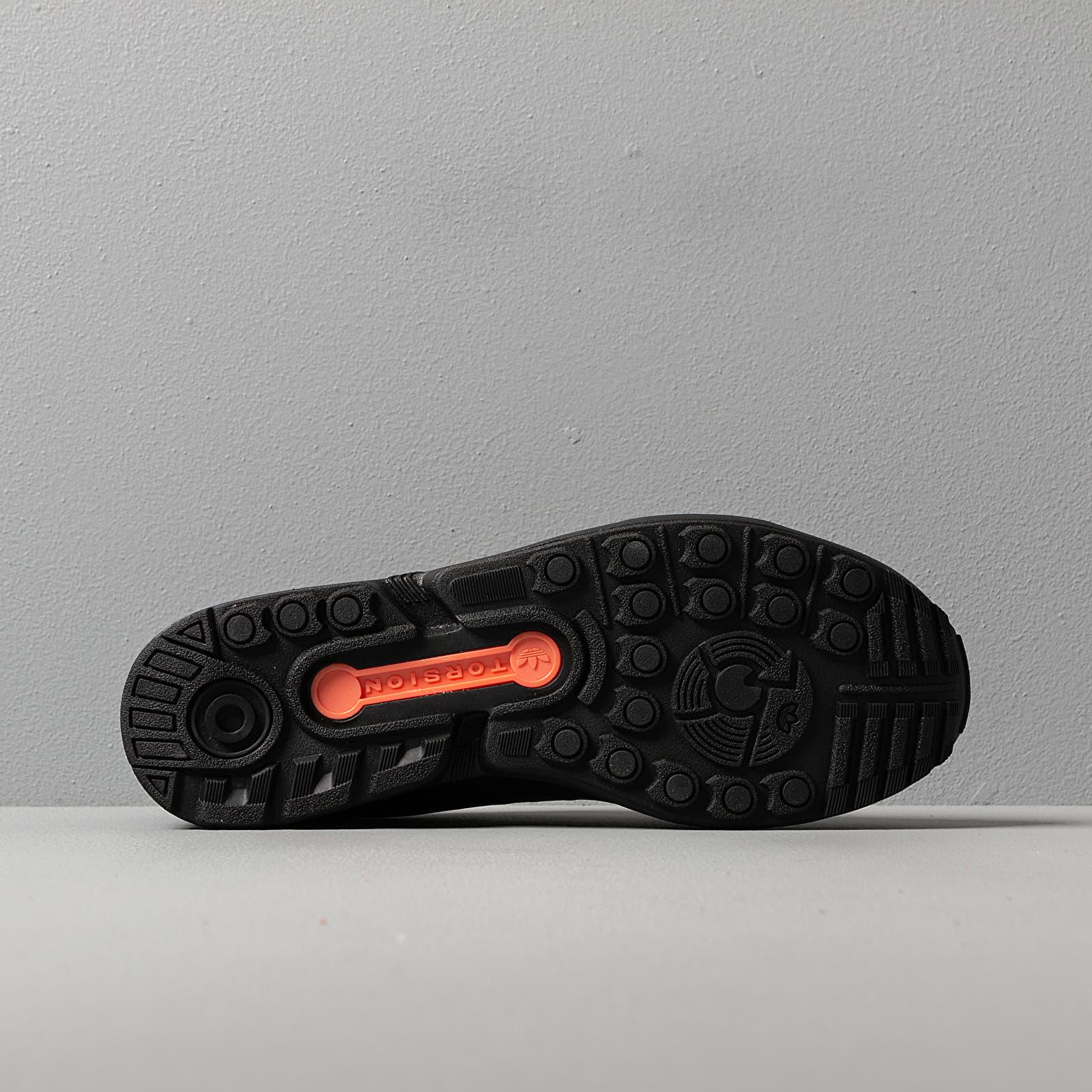 adidas ZX FluxCore Black Core Black Semi Core Orange