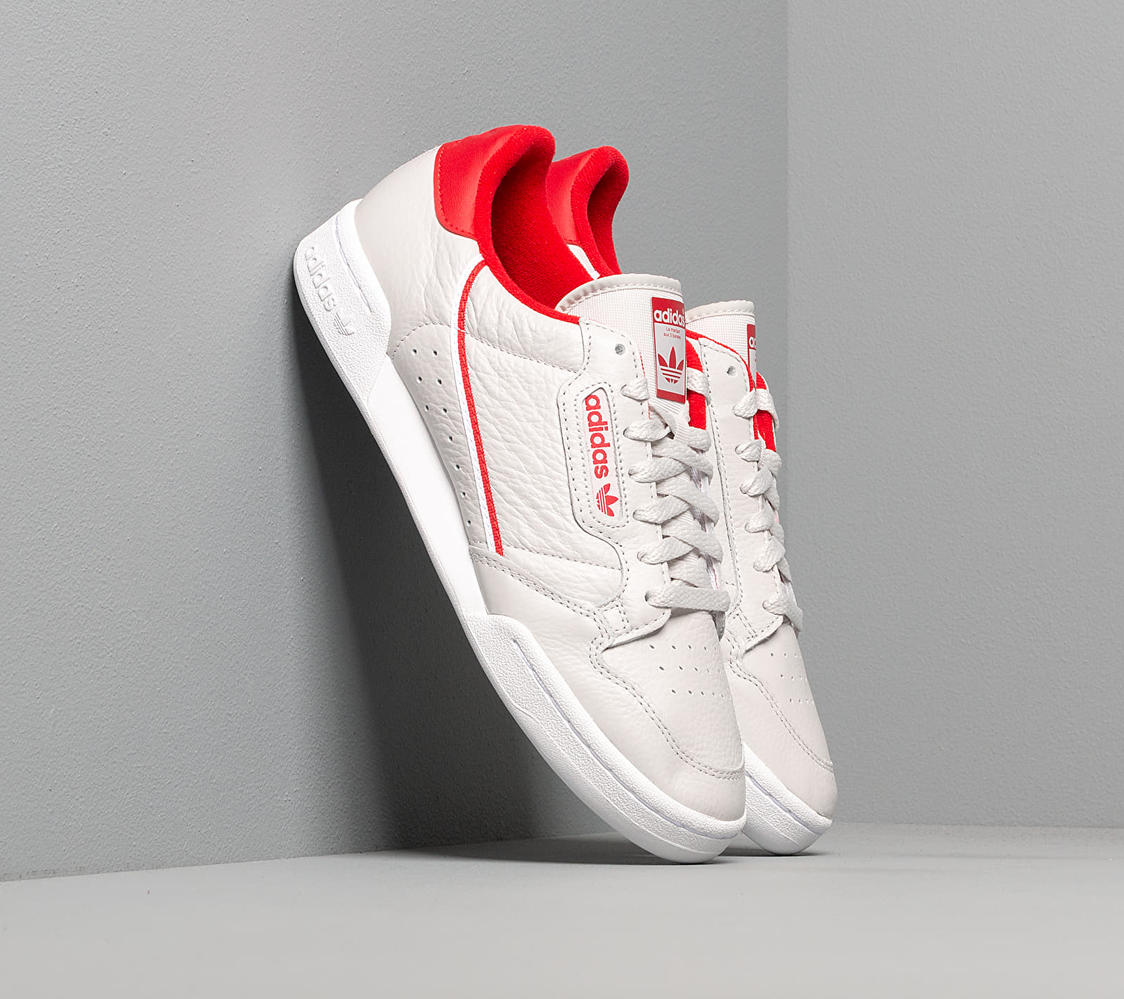 adidas Continental 80 Grey One/ Scarlet/ Ftw White, Gray