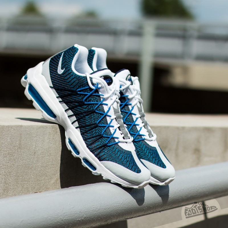 3c7ec28c2db4 Nike Air Max 95 Ultra Jacquard Midnight Navy  White- Gym Royal- Pht ...