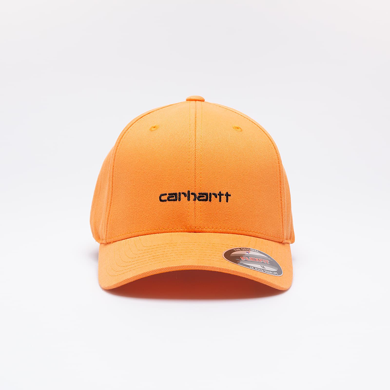 Caps Carhartt WIP Script Cap Pop Orange/ Black