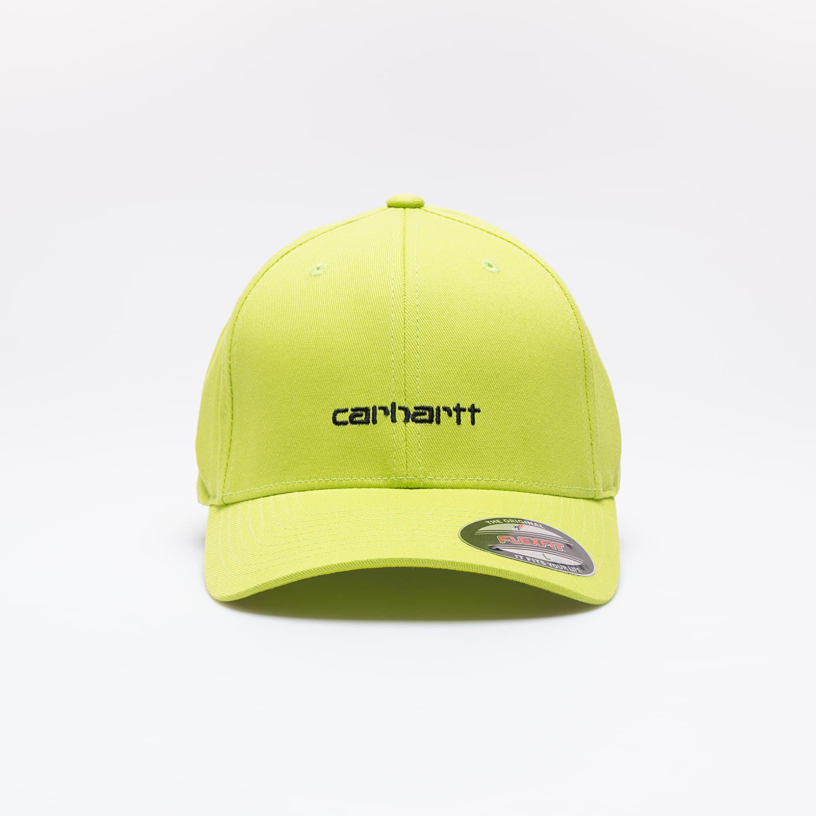 Baseball sapkák Carhartt WIP Script Cap Lime/ Black