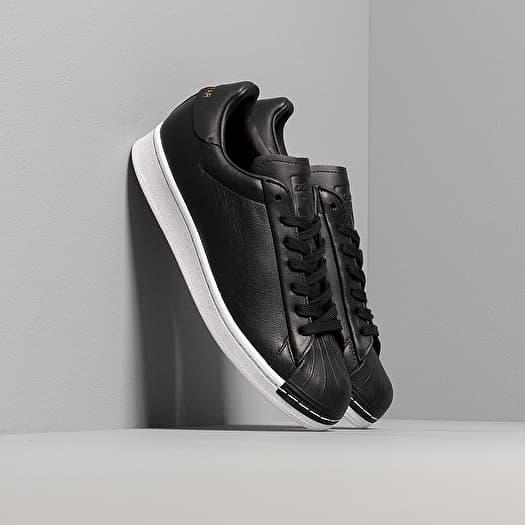 adidas superstar black white gold womens